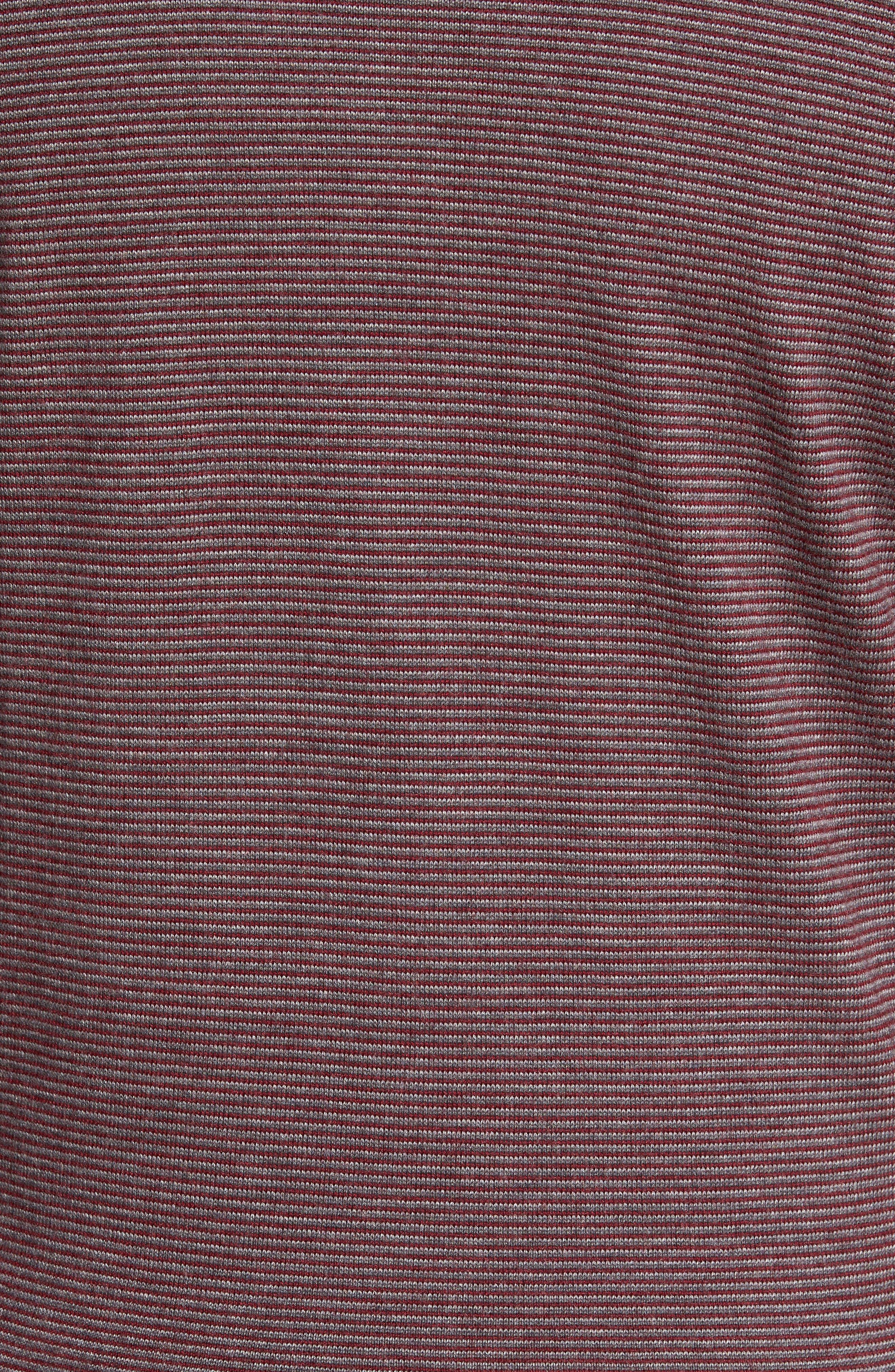 Trichrome Stripe Merino Wool Blend Sweater,                             Alternate thumbnail 5, color,                             Chianti