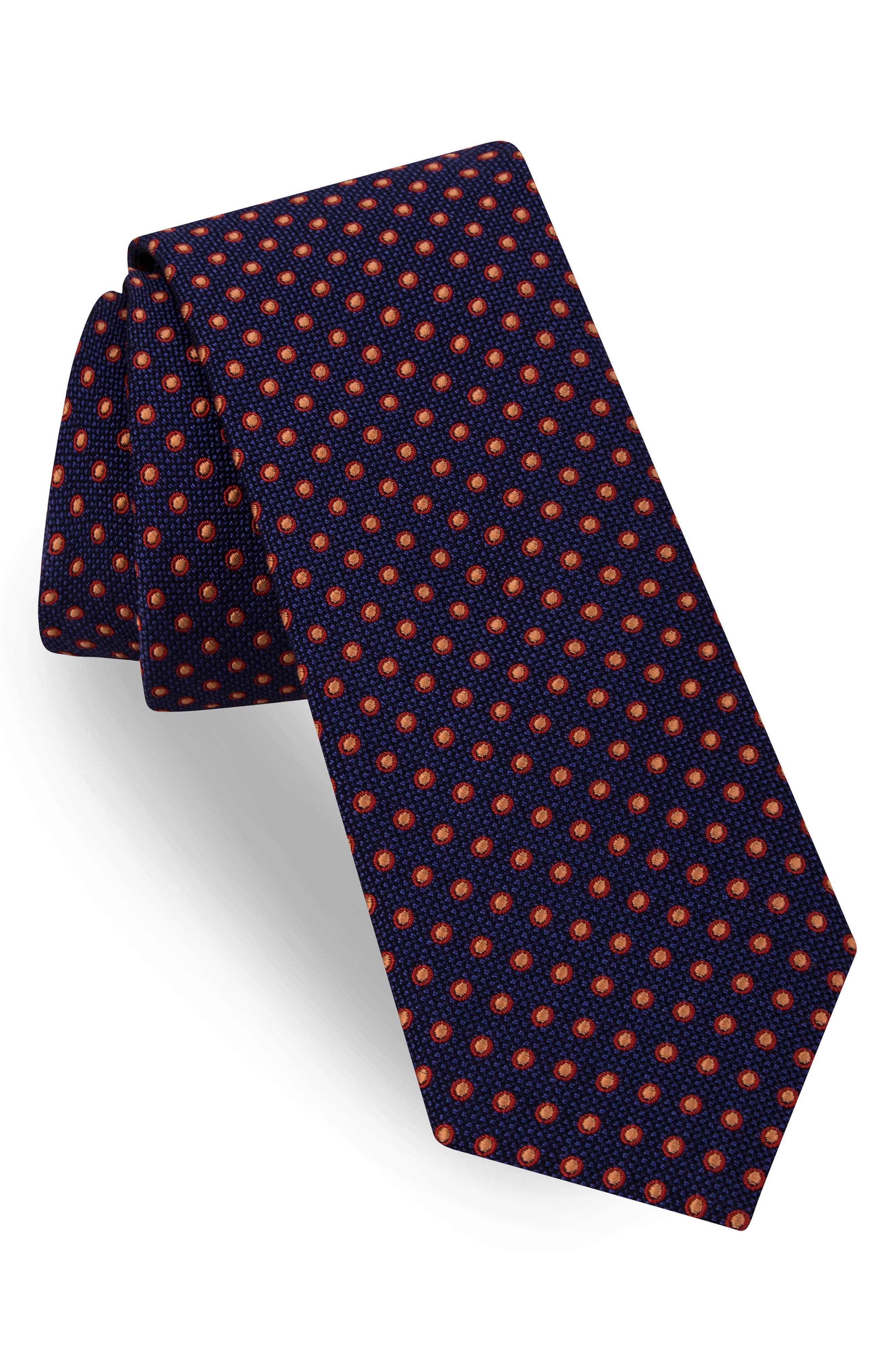 TED BAKER LONDON Dot Silk & Cotton Tie