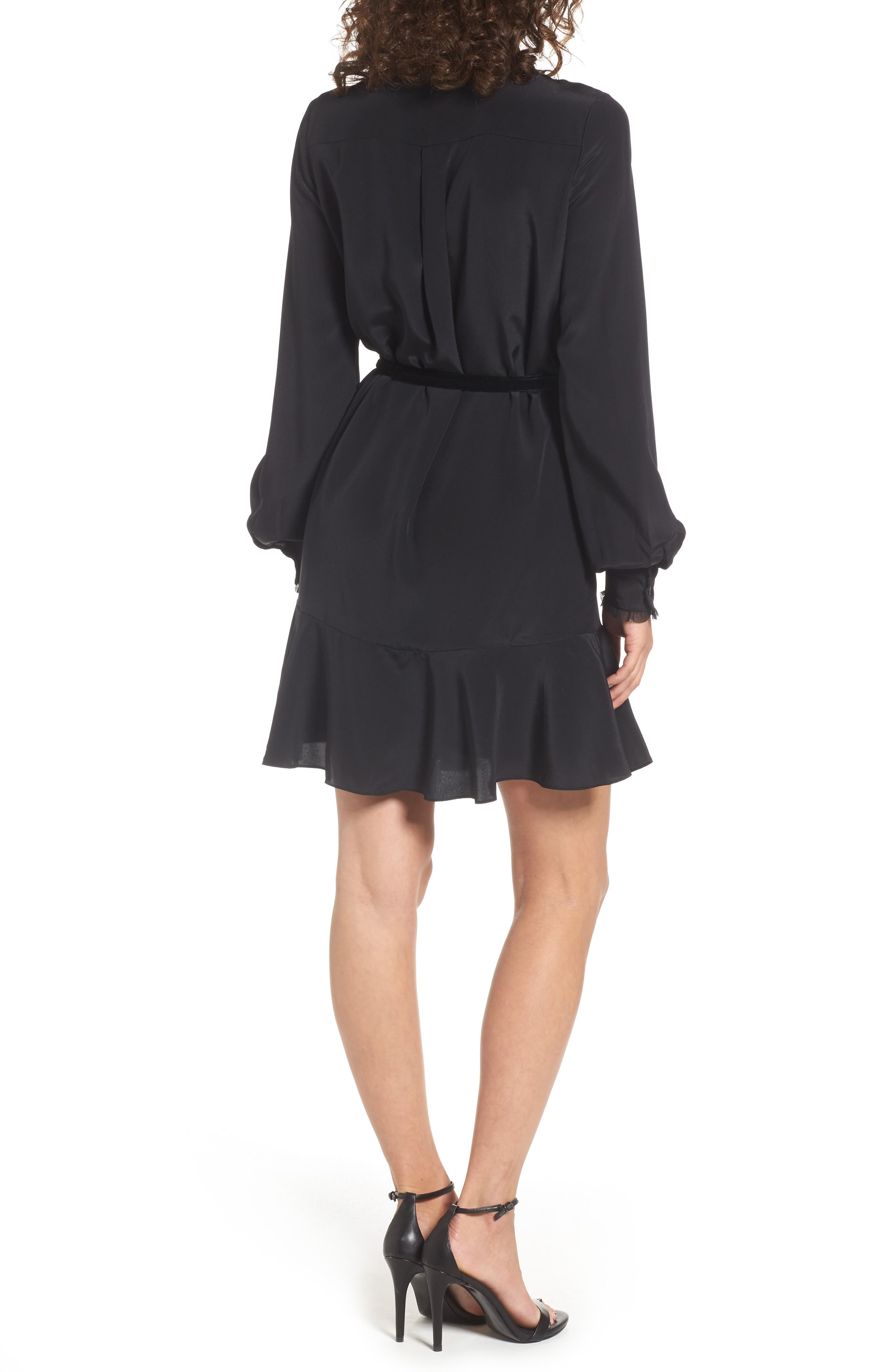 Alternate Image 2  - Juicy Couture Silk Shirtdress