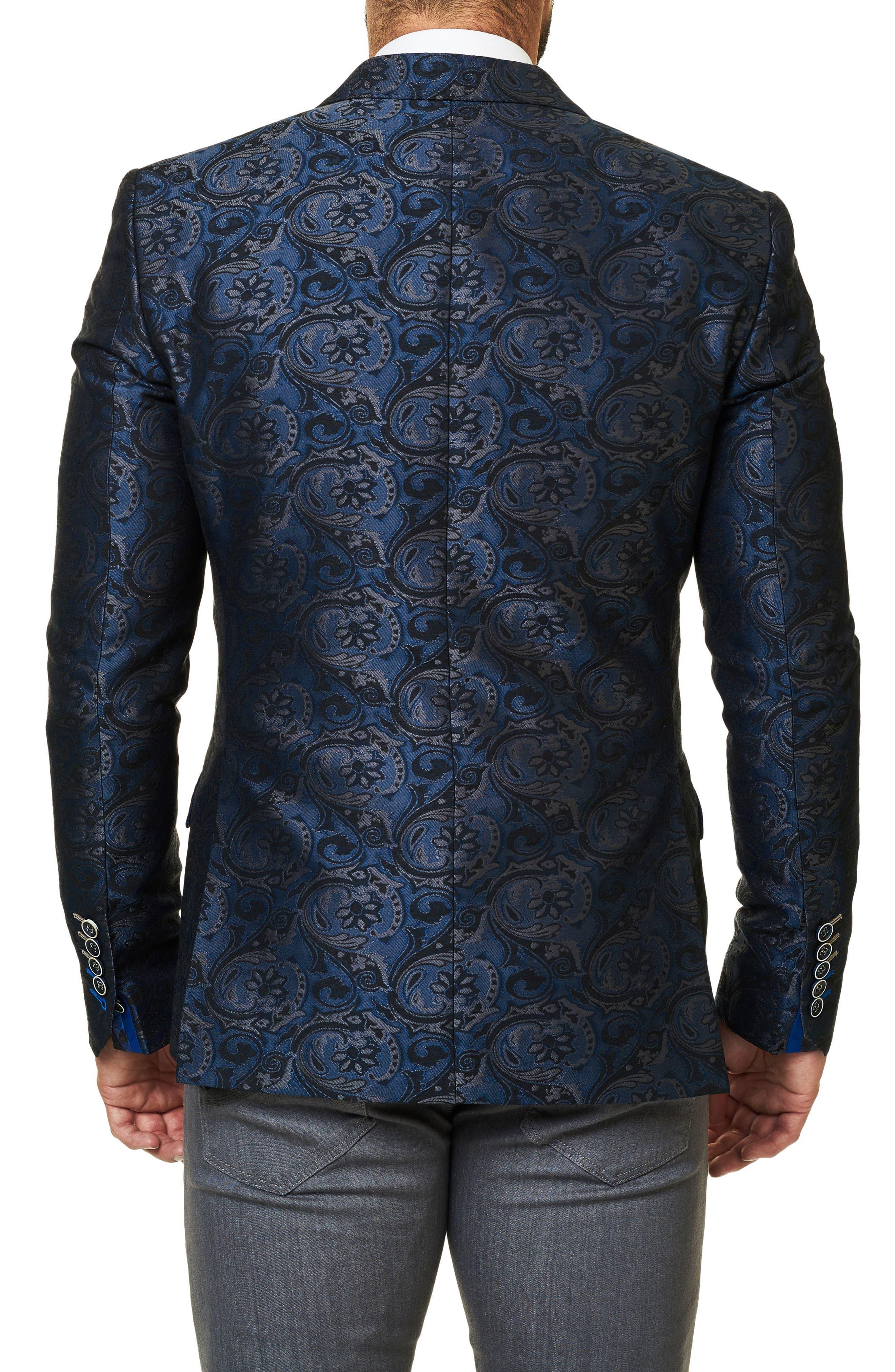 Alternate Image 2  - Maceoo Socrate Paisley Brocade Sport Coat