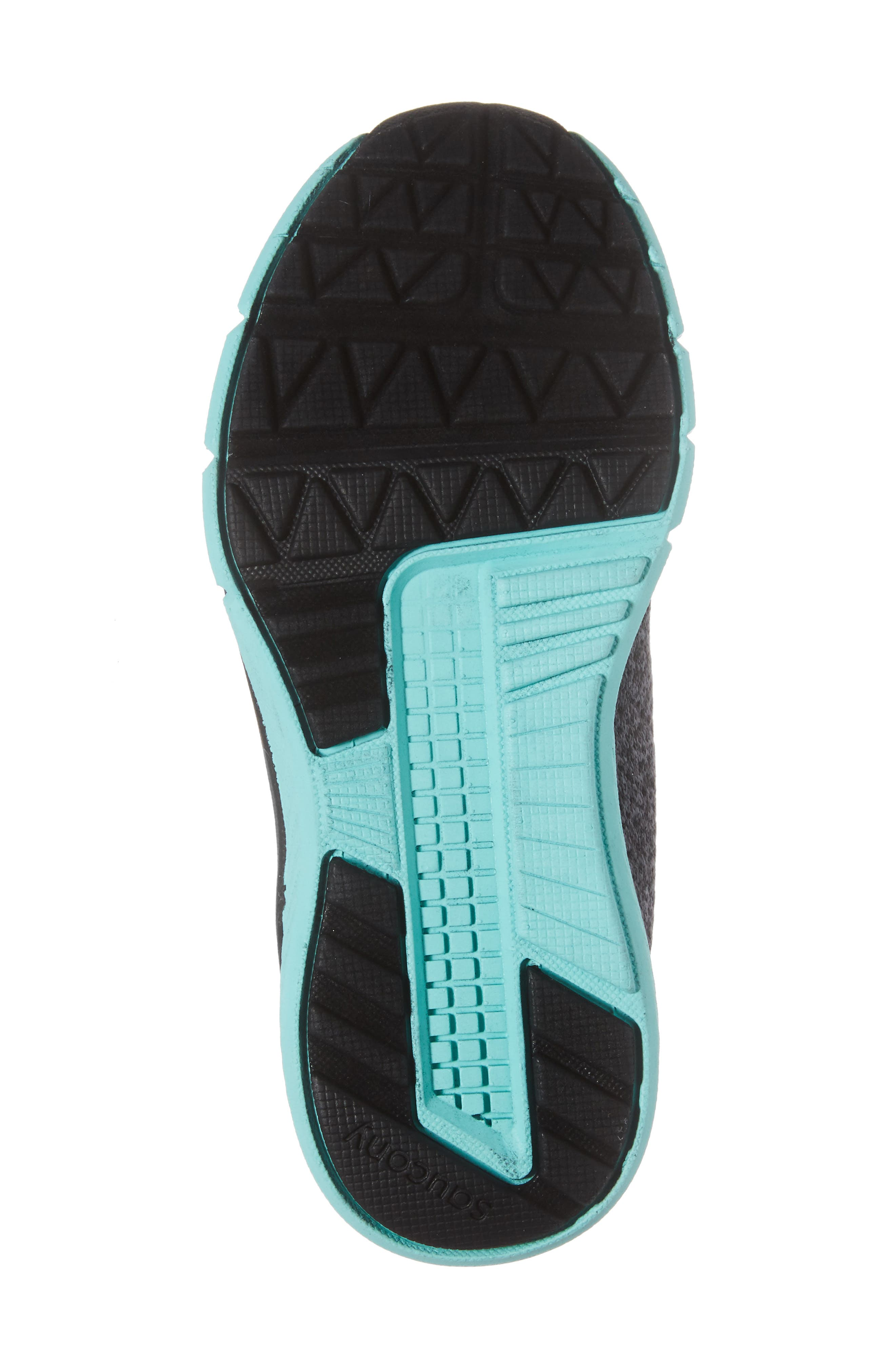 Ideal Sneaker,                             Alternate thumbnail 6, color,                             Black/ Turquoise
