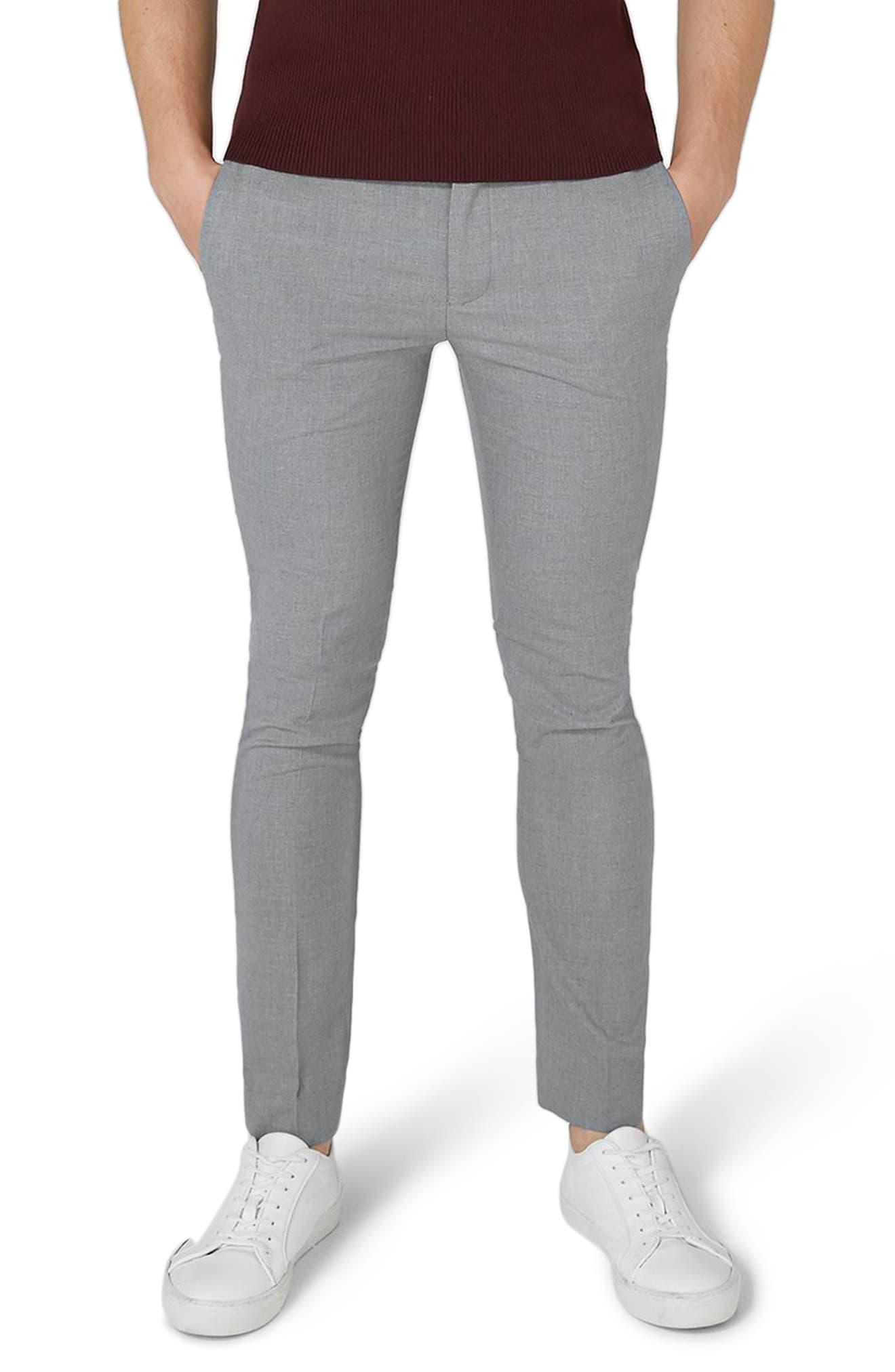 Main Image - Topman Ultra Skinny Fit Smart Trousers