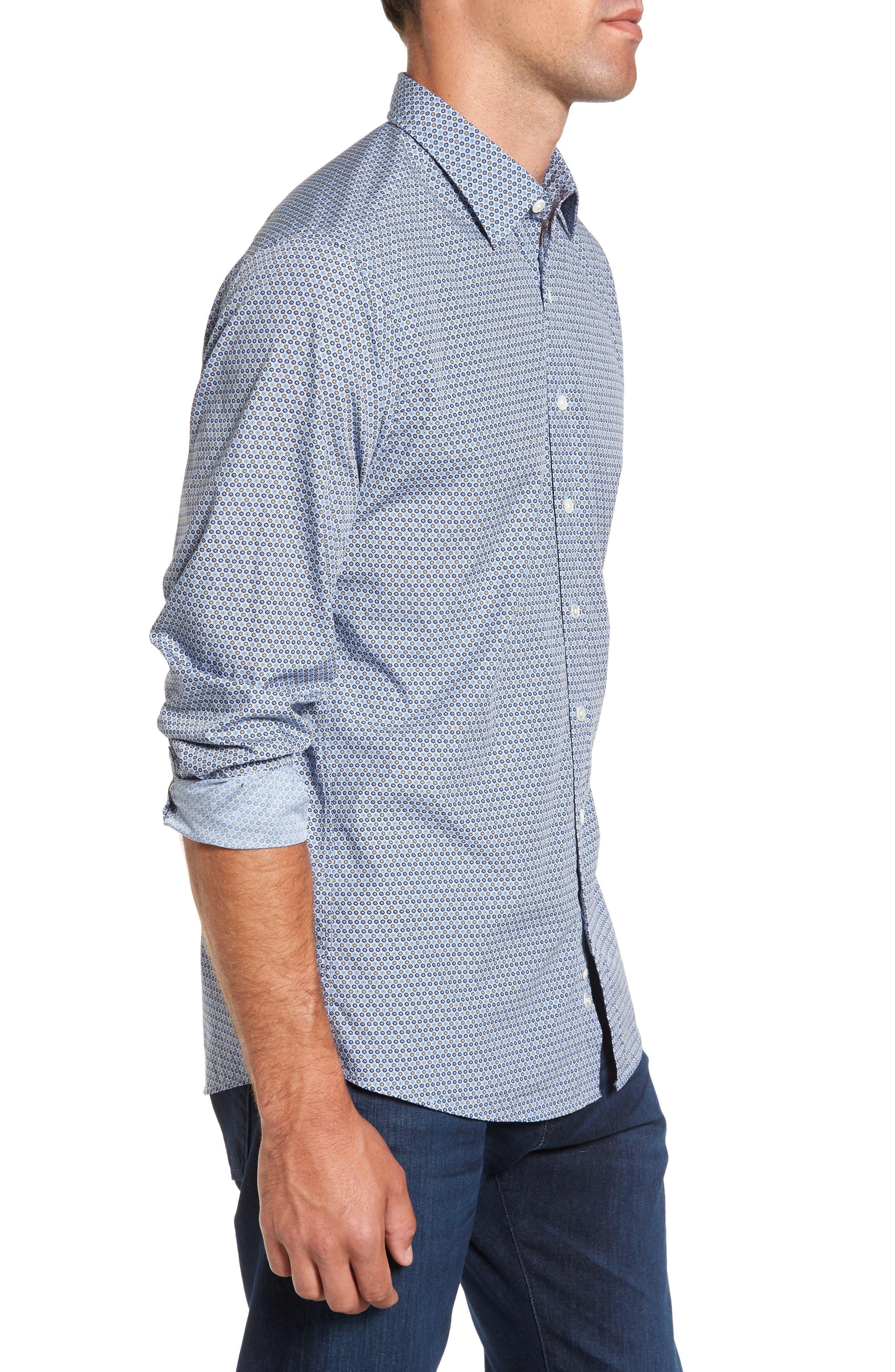 Alternate Image 3  - Rodd & Gunn Horseshoe Bay Sports Fit Print Sport Shirt