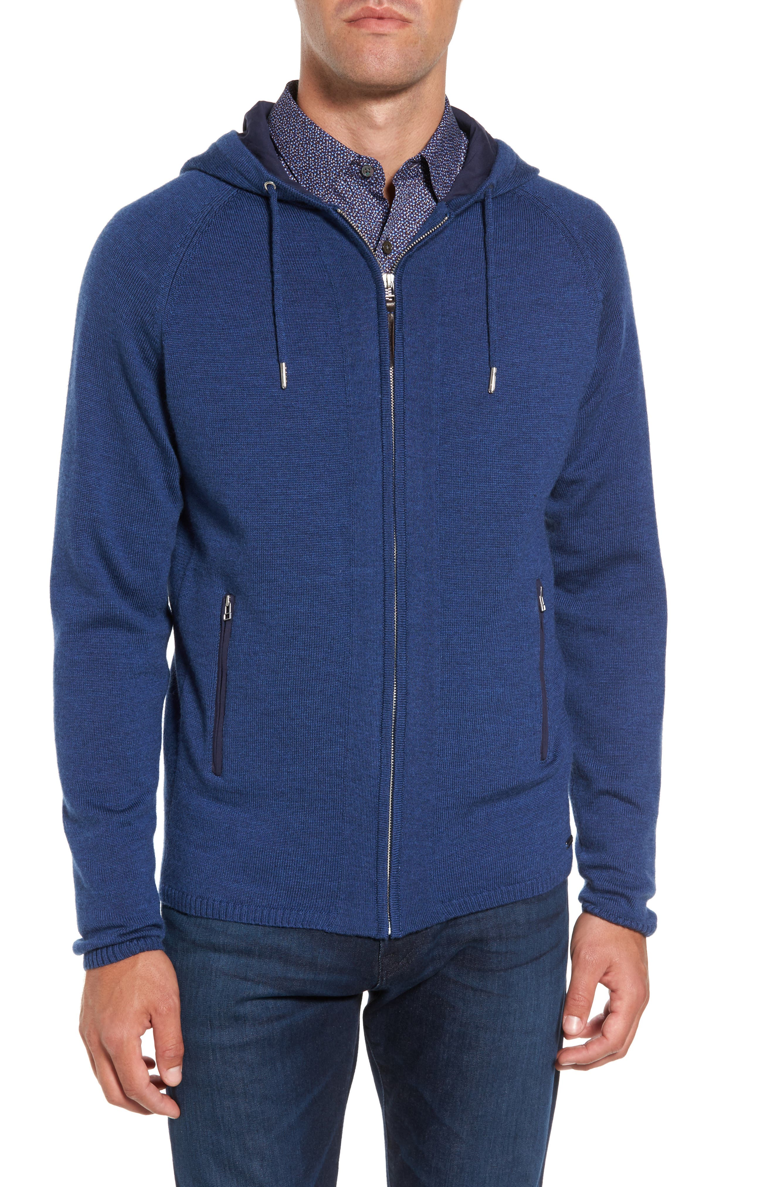 Alternate Image 1 Selected - Rodd & Gunn Grand Vue Hooded Zip Front Knit Sweater