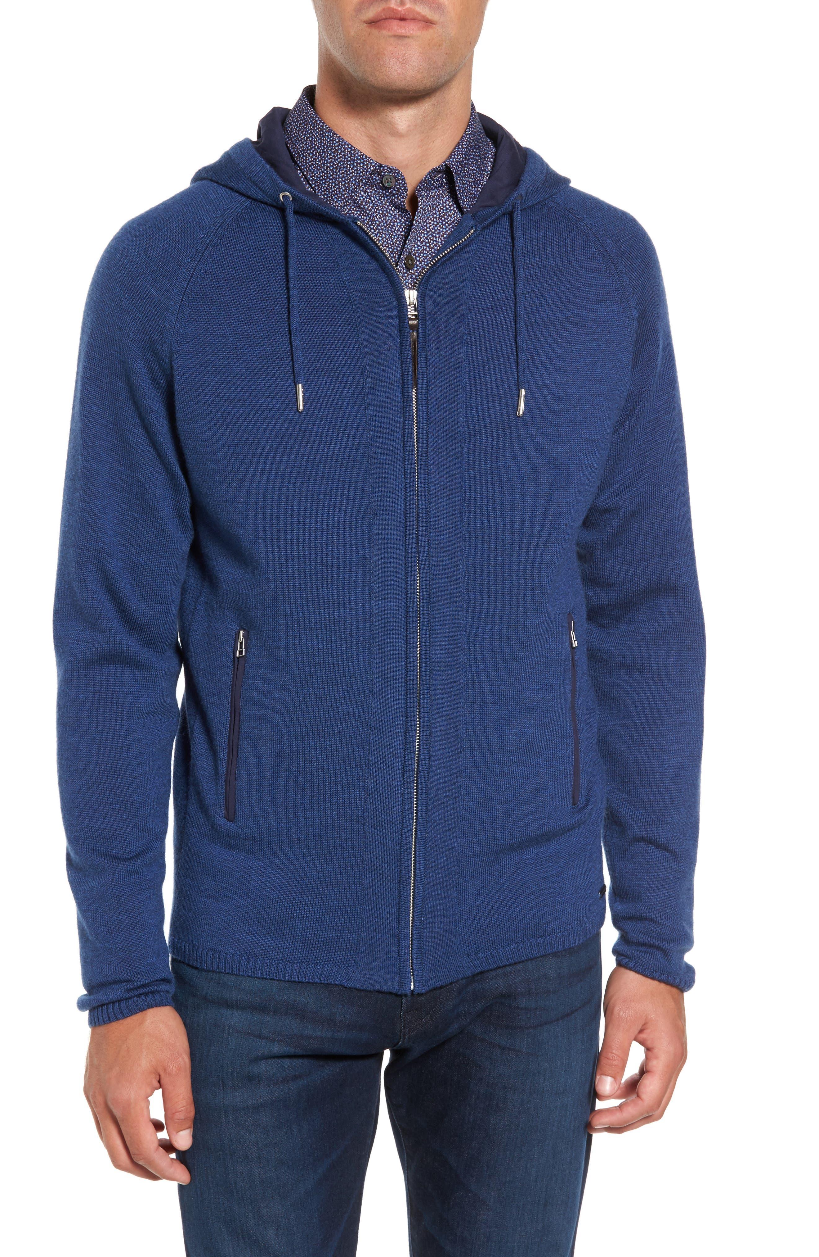 Main Image - Rodd & Gunn Grand Vue Hooded Zip Front Knit Sweater
