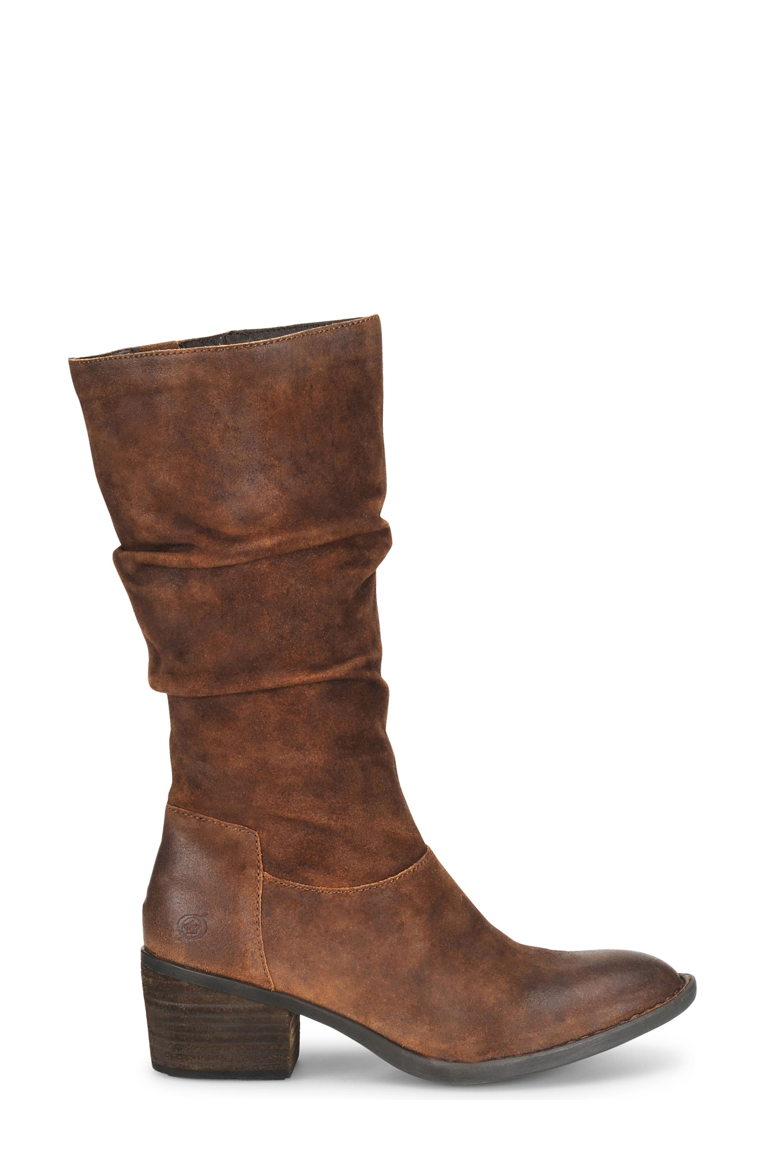 Peavy Slouch Boot,                             Alternate thumbnail 3, color,                             Rust Distressed Leather
