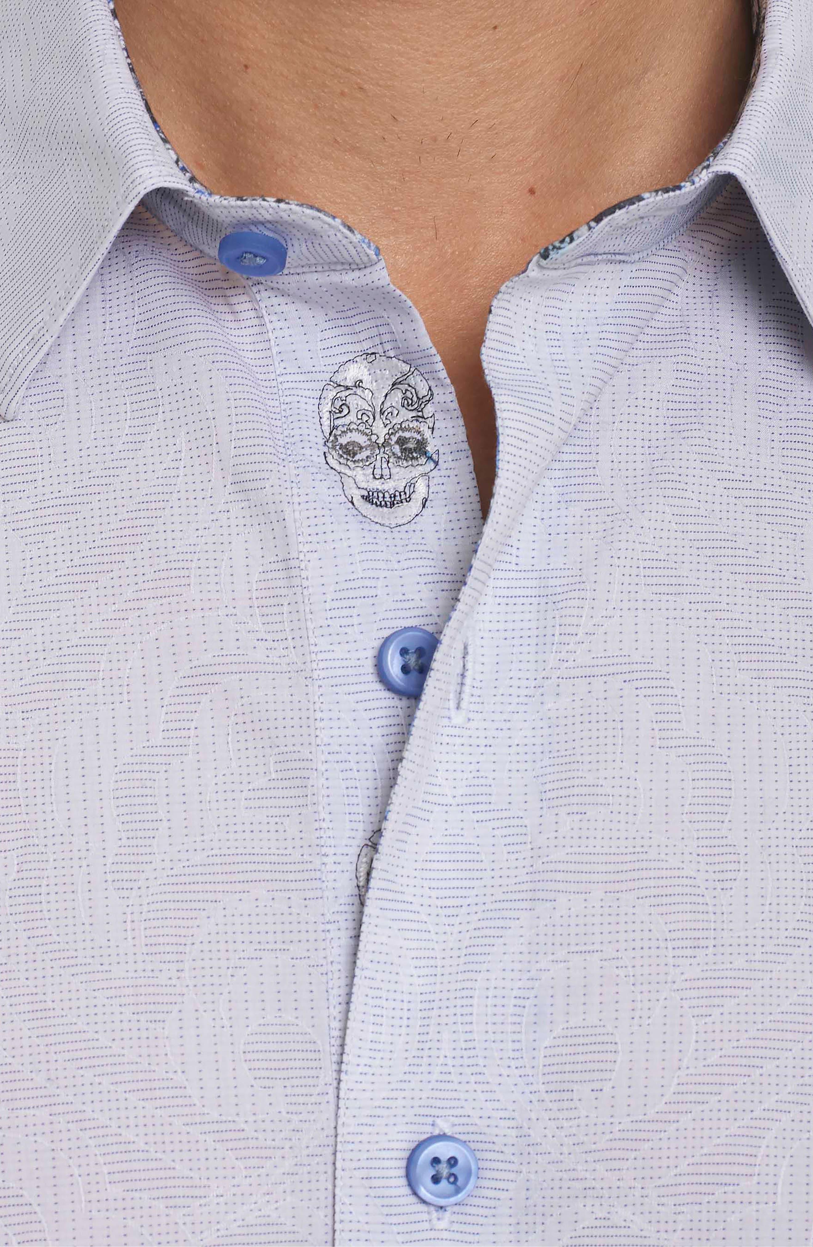 Alex Bay Classic Fit Sport Shirt,                             Alternate thumbnail 4, color,                             White
