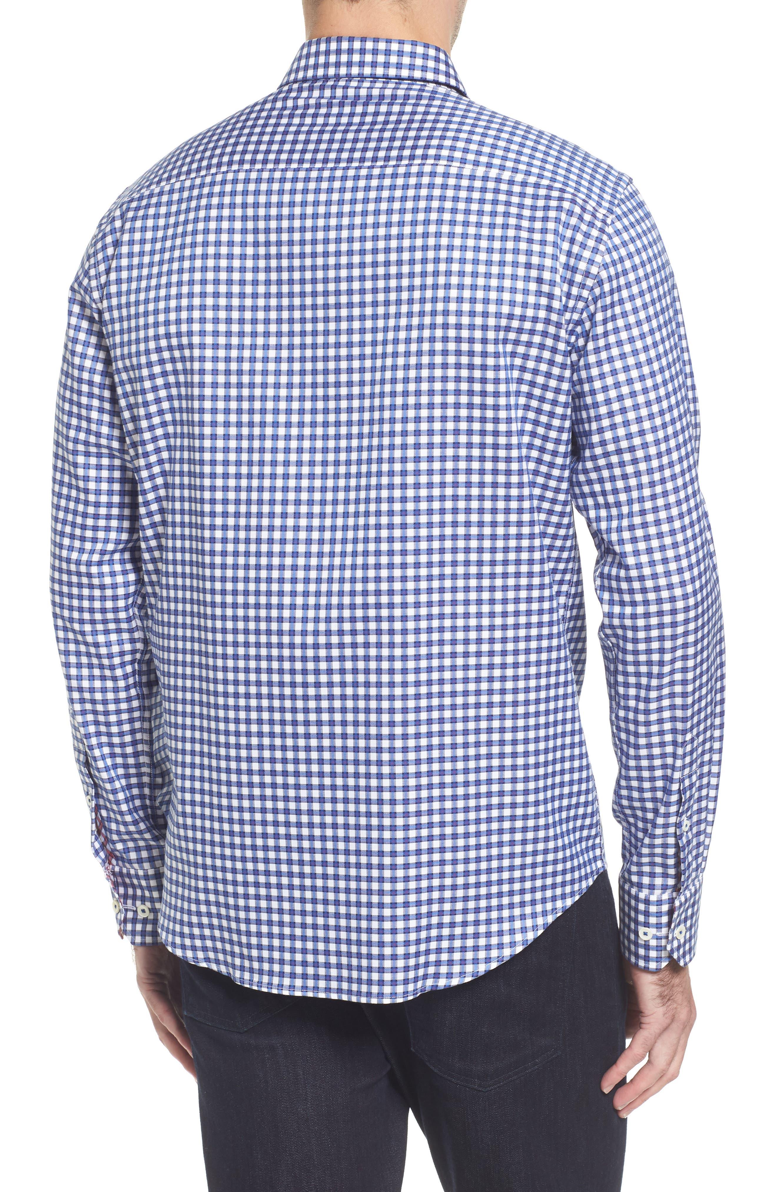 Slim Fit Check Sport Shirt,                             Alternate thumbnail 2, color,                             Classic Blue