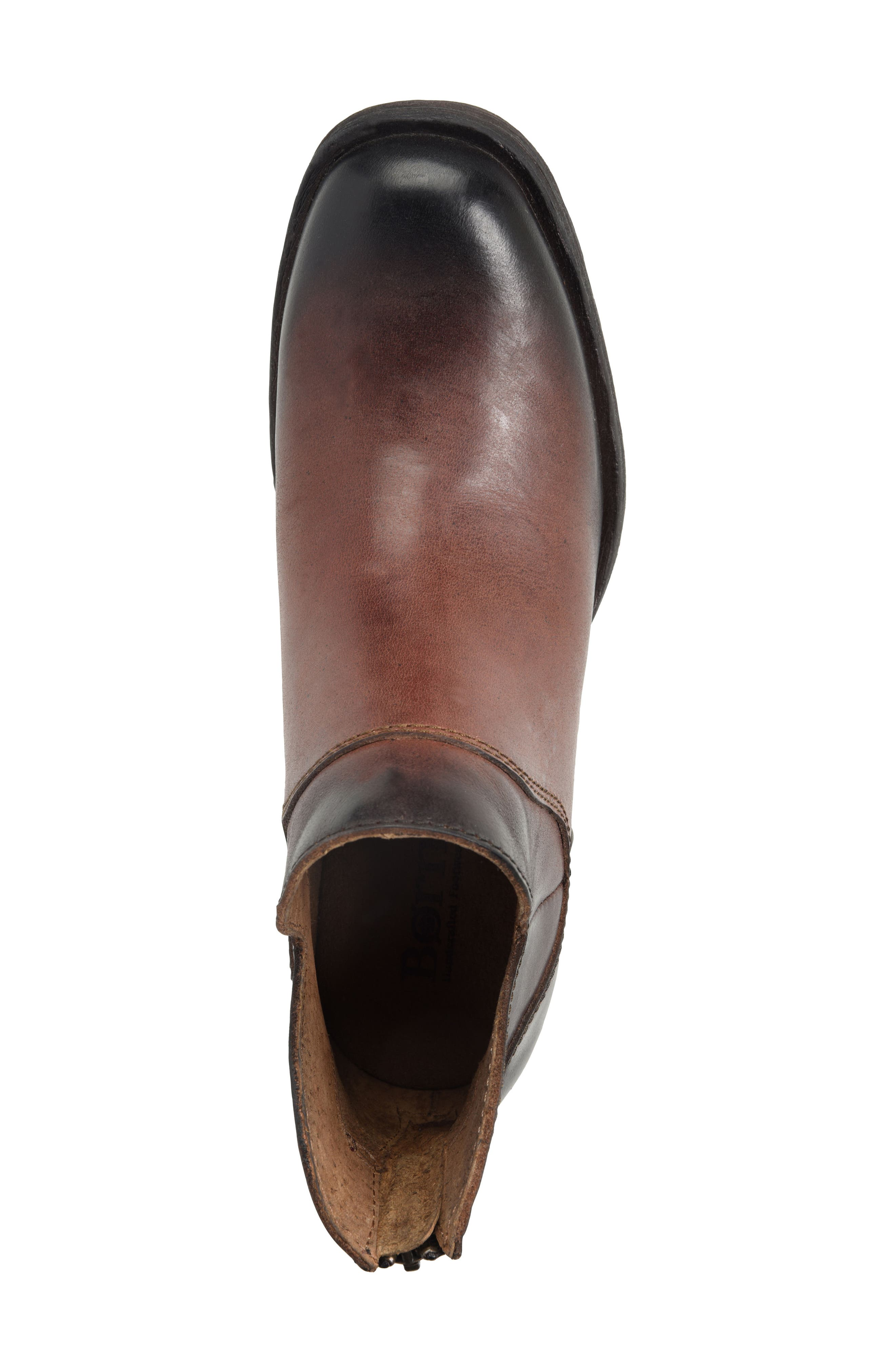 Chisel Bootie,                             Alternate thumbnail 5, color,                             Brown Leather
