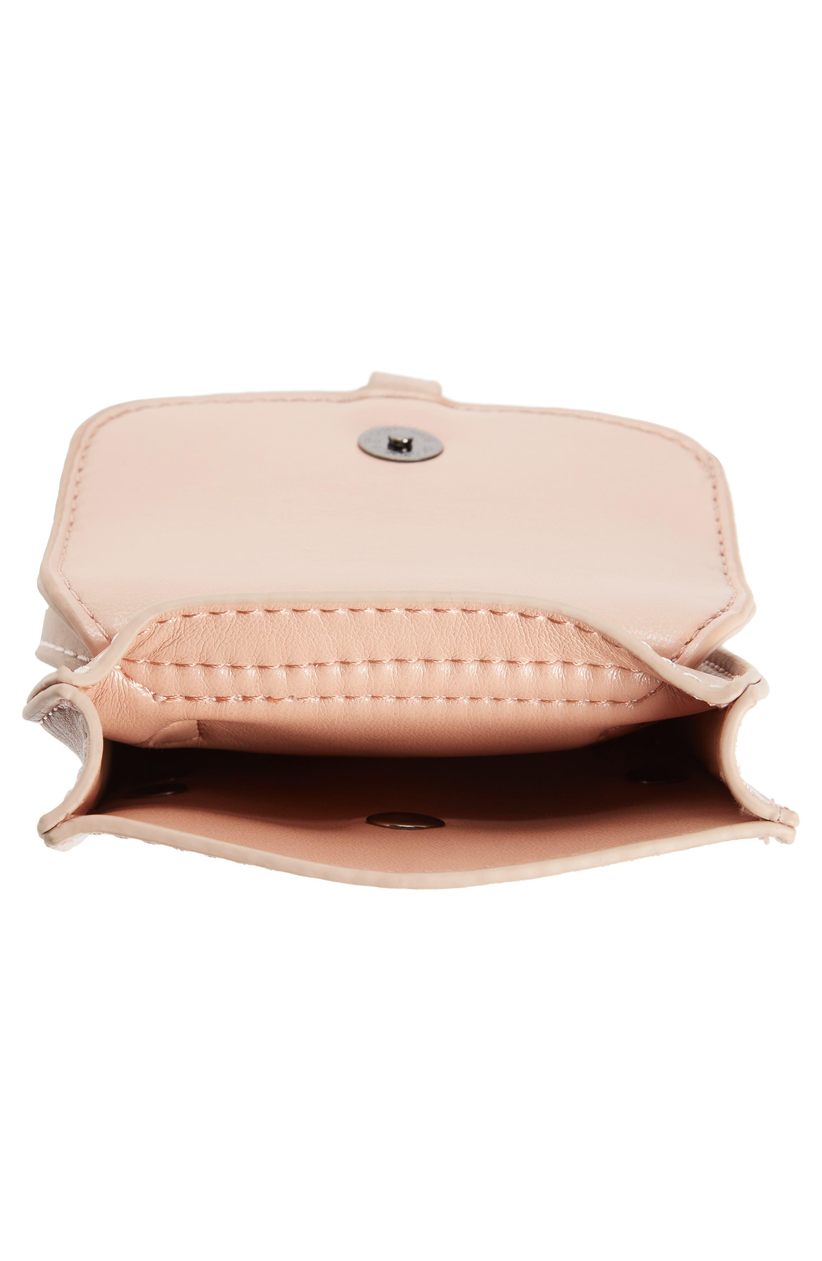 Studded Phone Crossbody Bag,                             Alternate thumbnail 3, color,                             Blush/ Hematite
