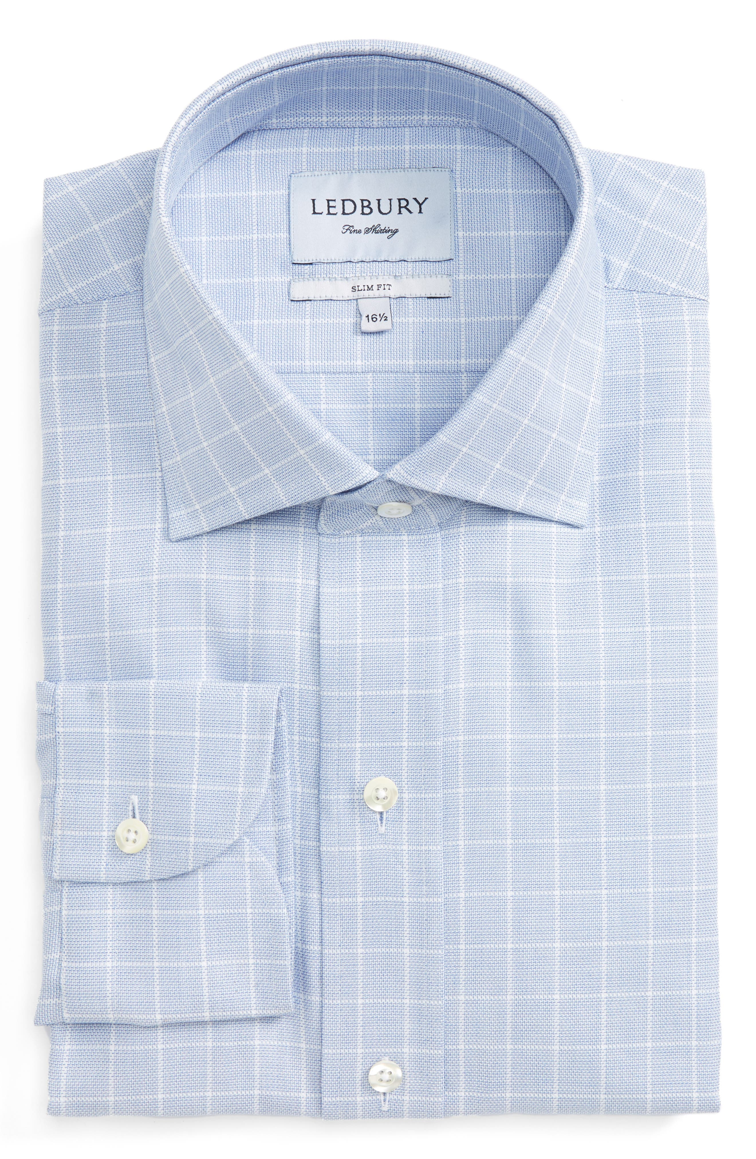 Ledbury Slim Fit Check Dress Shirt
