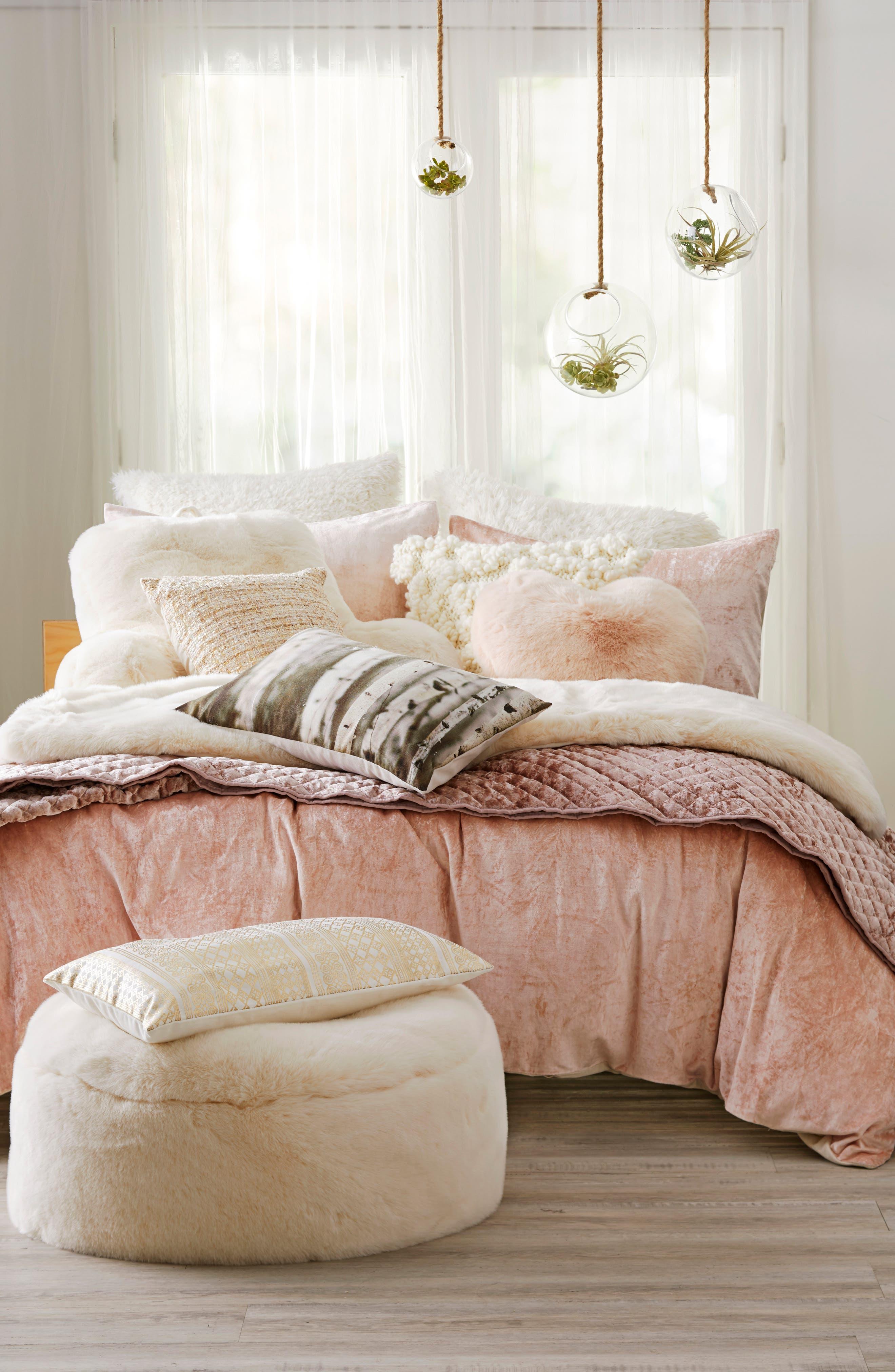 Nordstrom at Home Shimmer Velvet Duvet & Levtex Crushed Velvet Quilt Bedding Collection