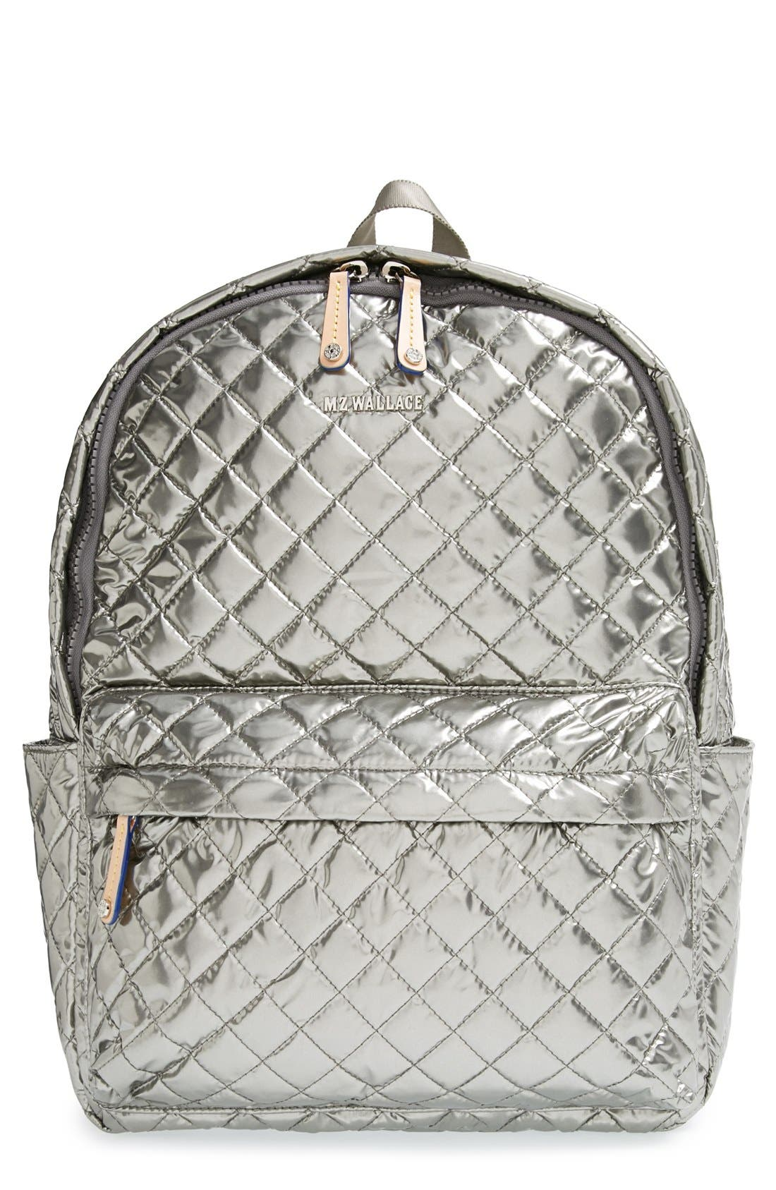 Alternate Image 1 Selected - MZ Wallace 'Metro' Quilted Oxford Nylon Backpack