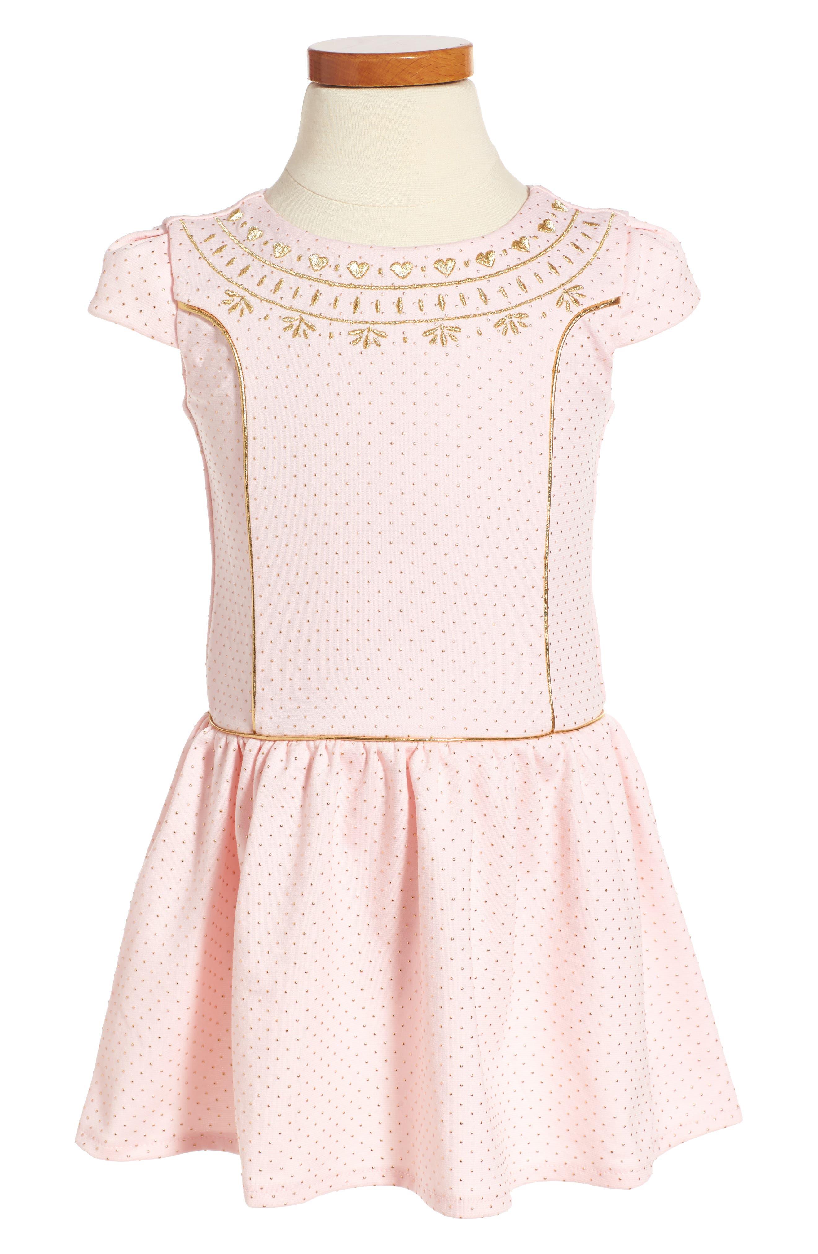 Alternate Image 1 Selected - Little Angels Princess Drop Waist Dress (Toddler Girls & Little Girls)