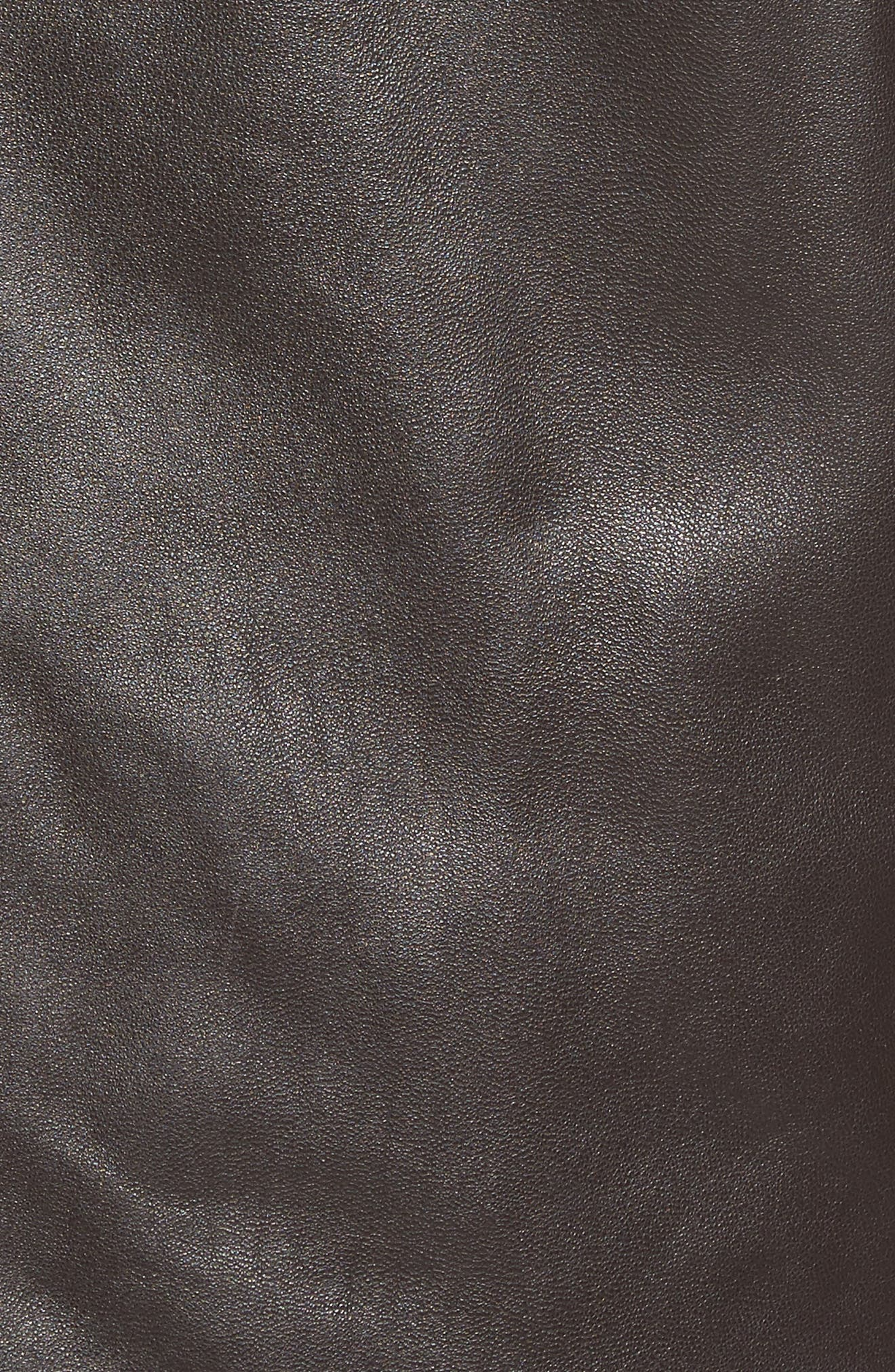 Alternate Image 5  - Marc New York Lambskin Leather Jacket with Genuine Rabbit Fur Trim