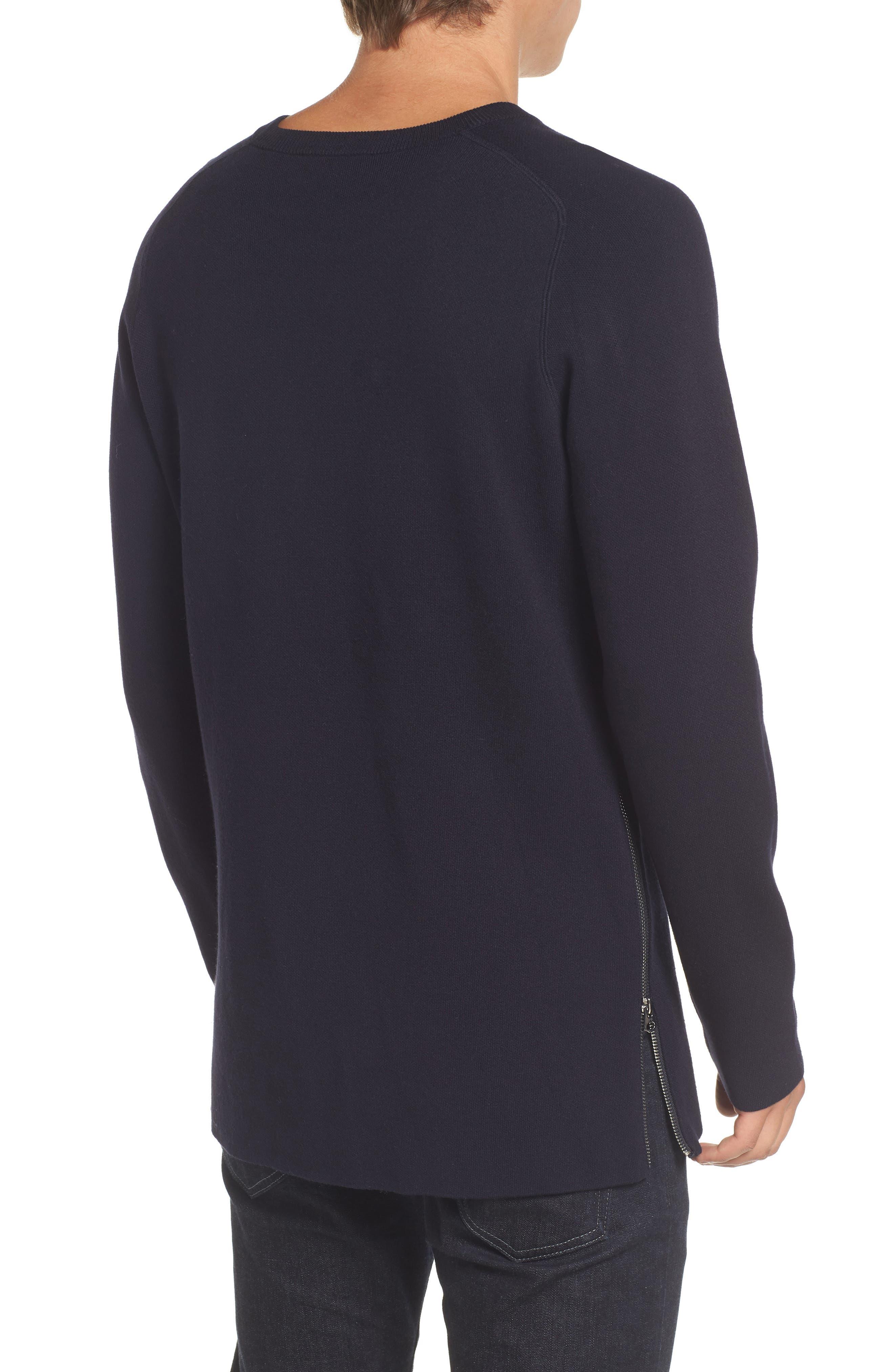 Lakra Side Zip Sweater,                             Alternate thumbnail 2, color,                             Marine Blue