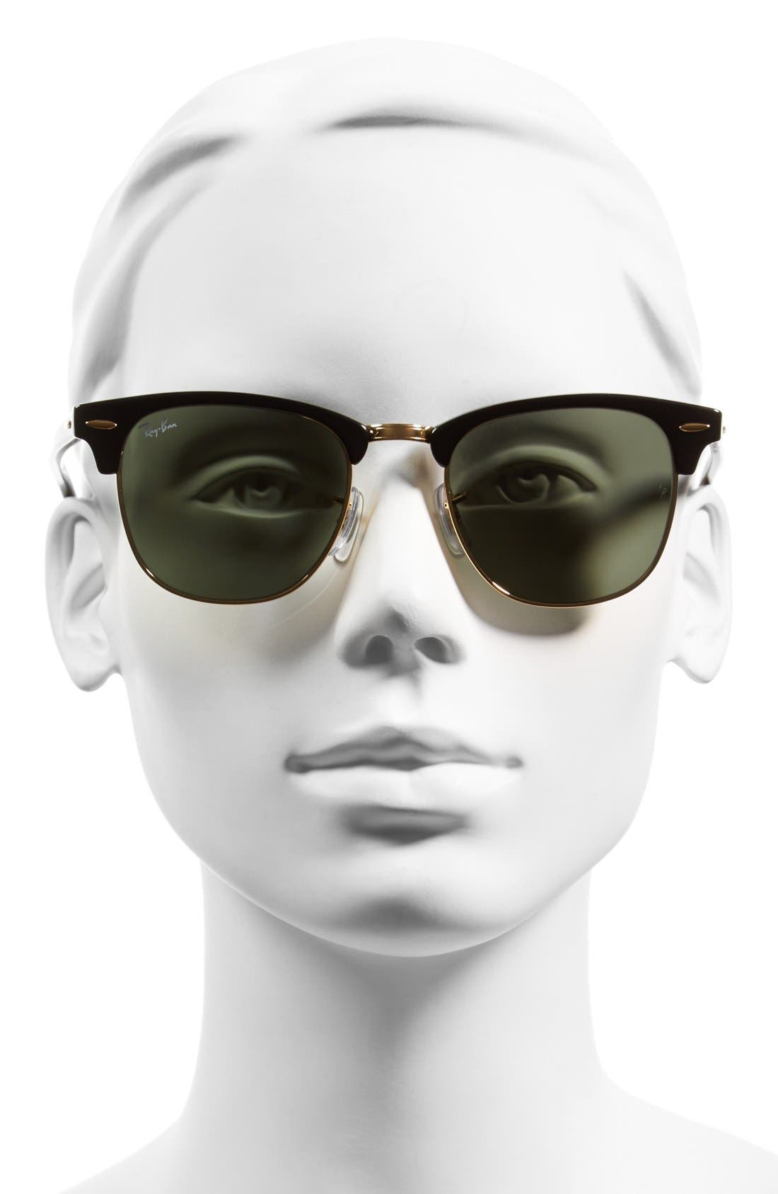 Alternate Image 2  - Ray-Ban Standard Clubmaster 51mm Sunglasses