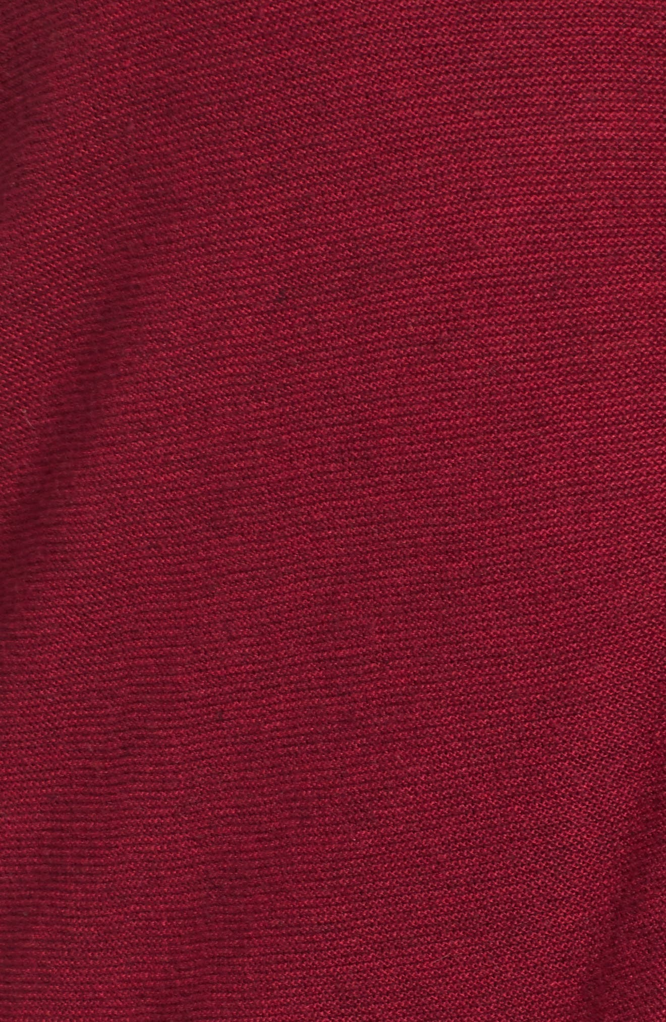V-Neck Sweater,                             Alternate thumbnail 5, color,                             Hibiscus