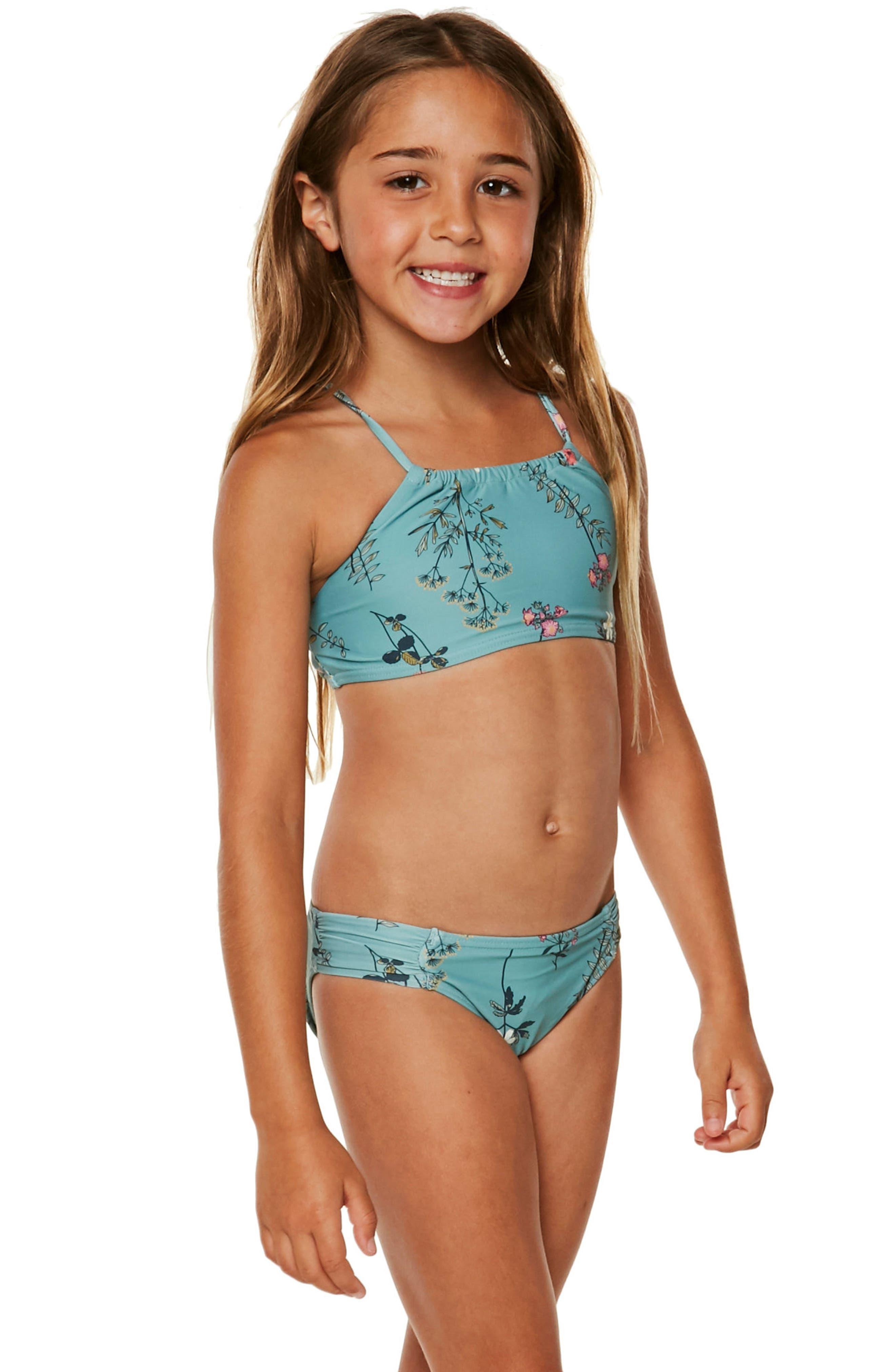 Piper Two-Piece Swimsuit,                             Alternate thumbnail 3, color,                             Aqua Haze