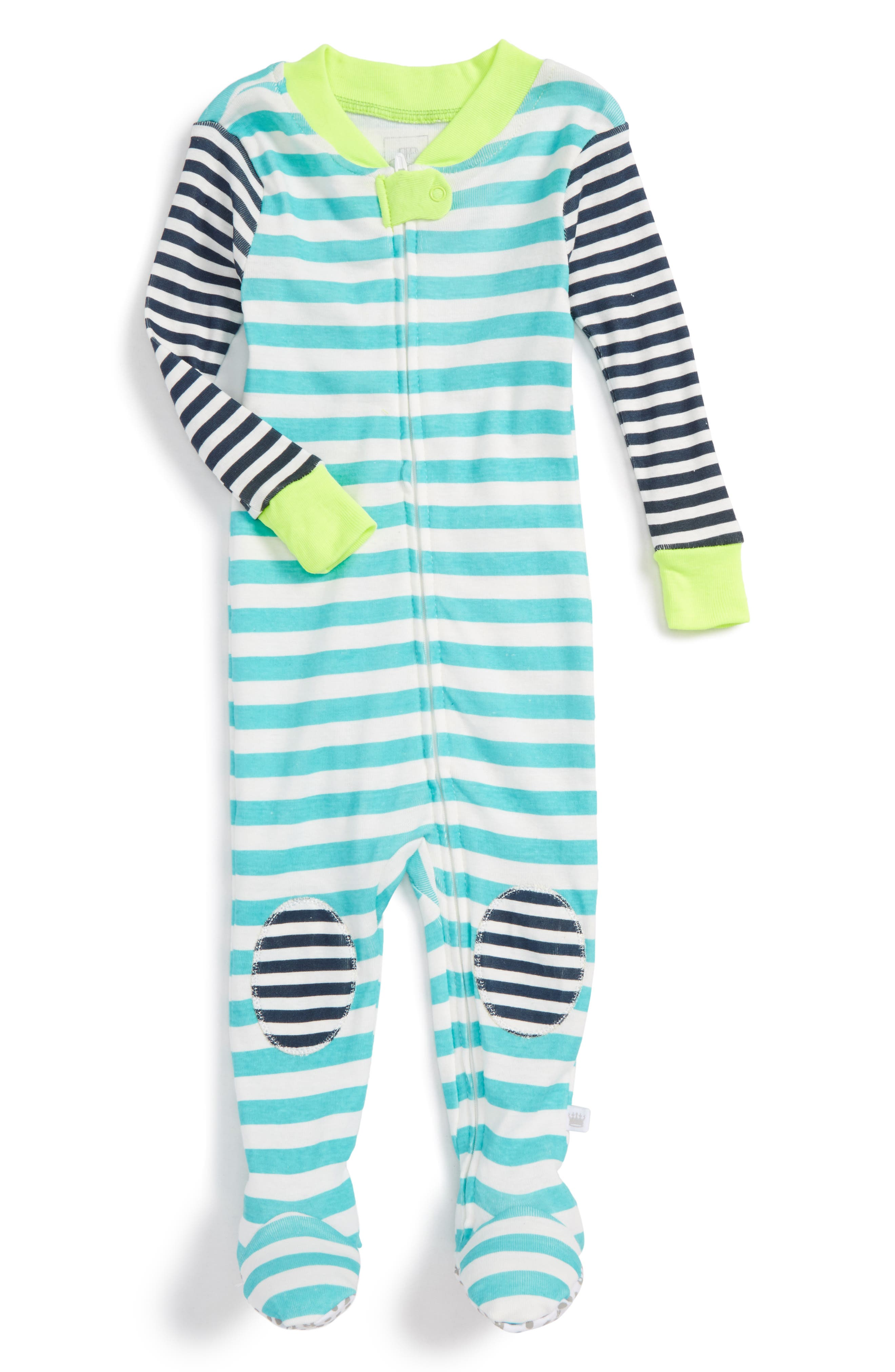 Rosie Pope Fitted One-Piece Footed Pajamas (Baby Boys)
