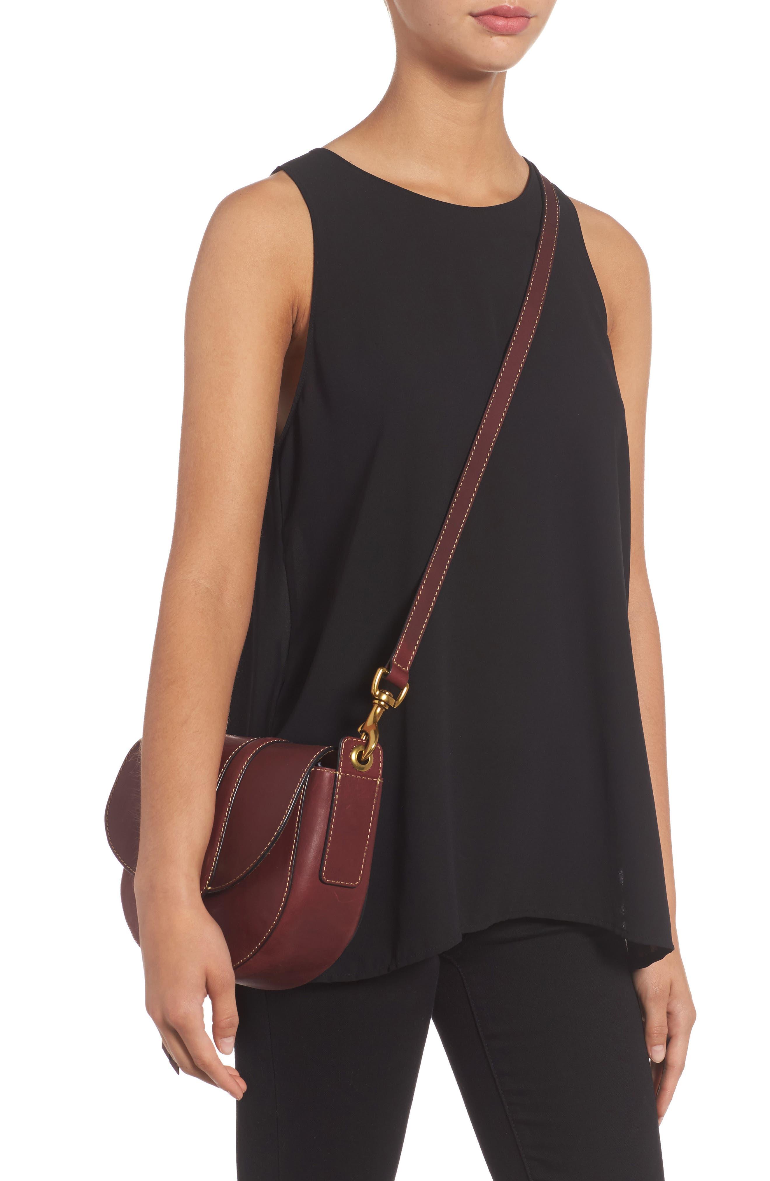 Alternate Image 2  - Frye Small Ilana Harness Leather Saddle Bag