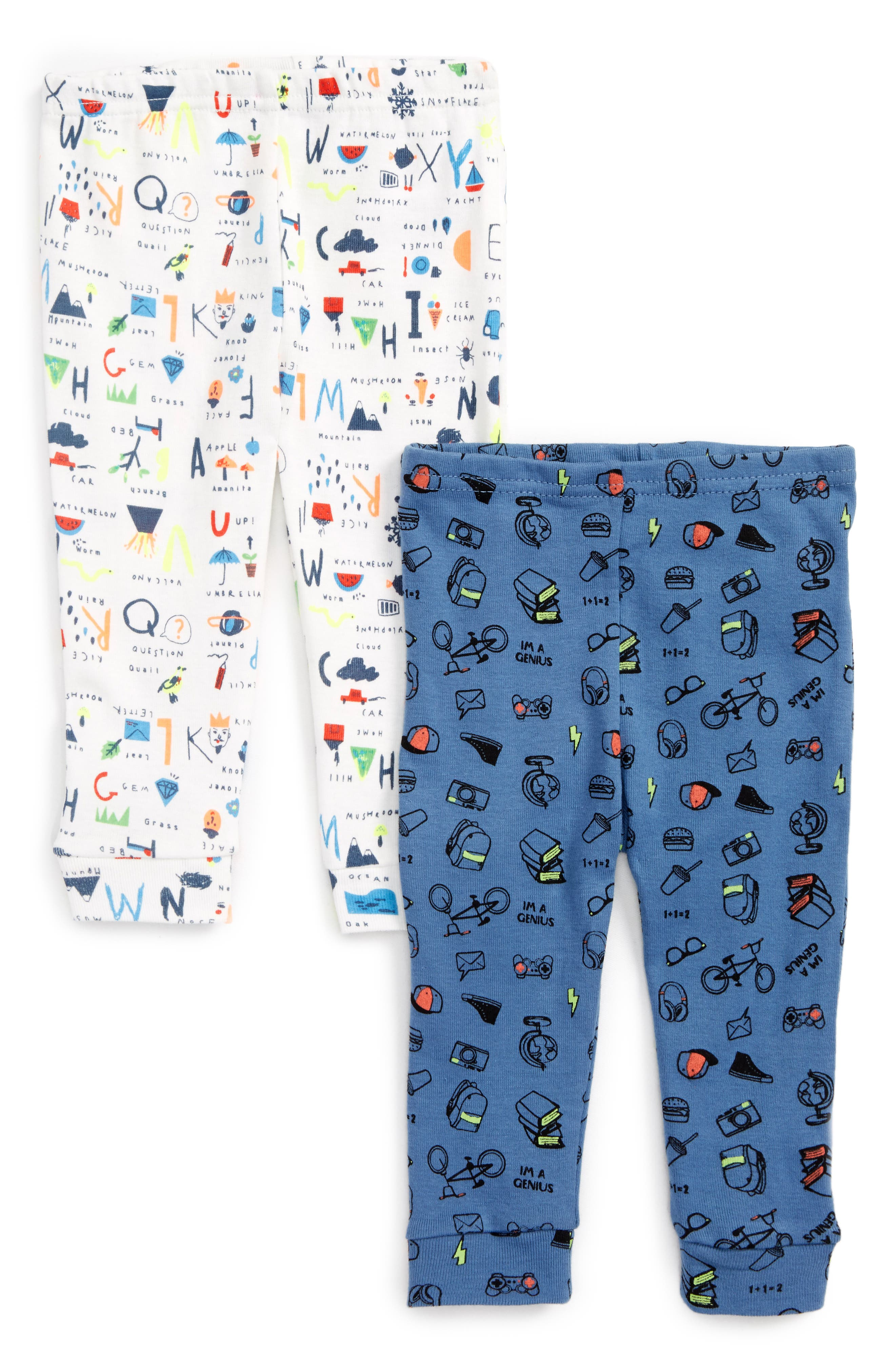 Rosie Pope Nerdy Letters & Symbols 2-Pack Print Pants (Baby Boys)