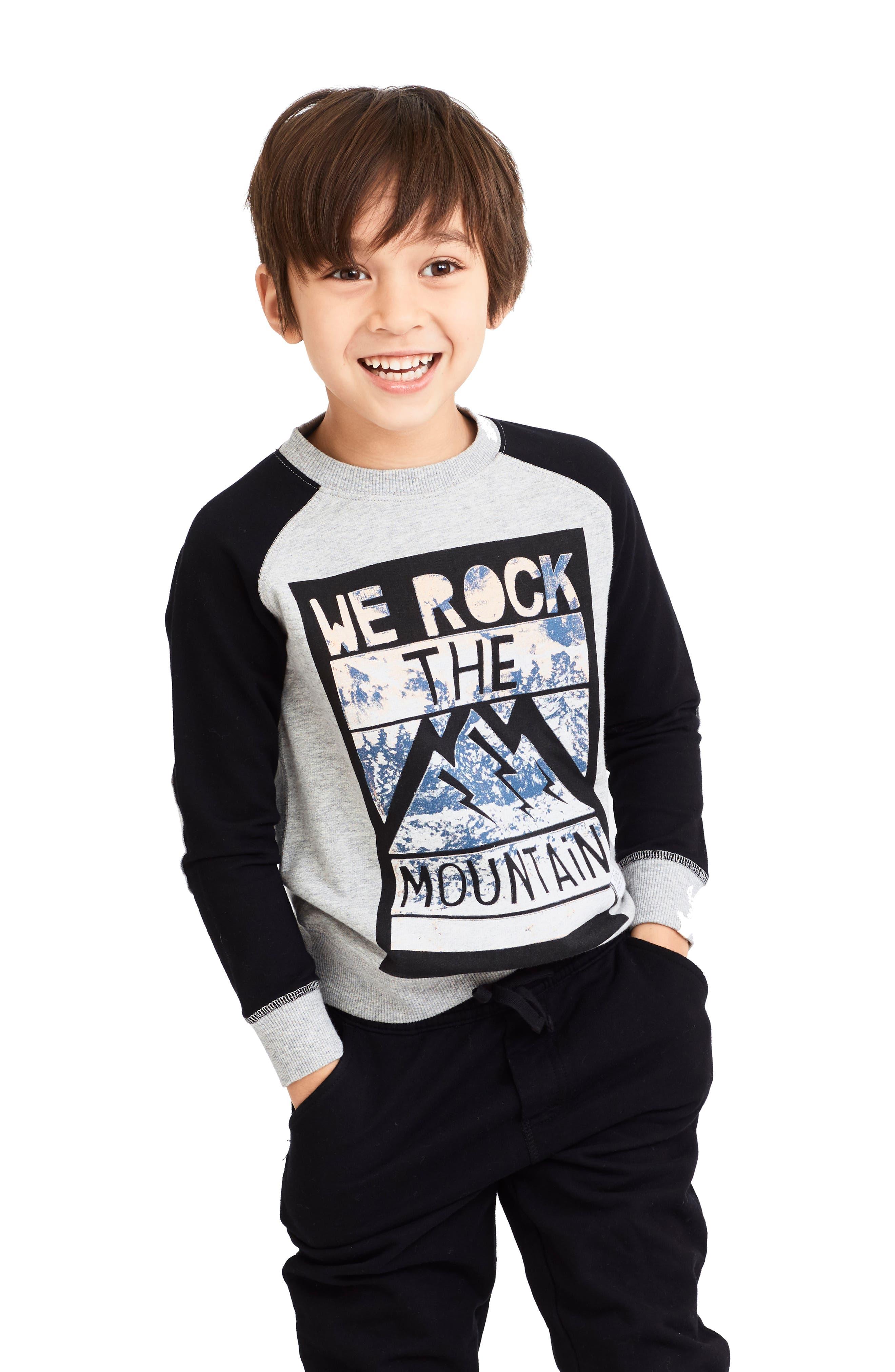 Kai Mountain Graphic Sweatshirt,                             Main thumbnail 1, color,                             Black