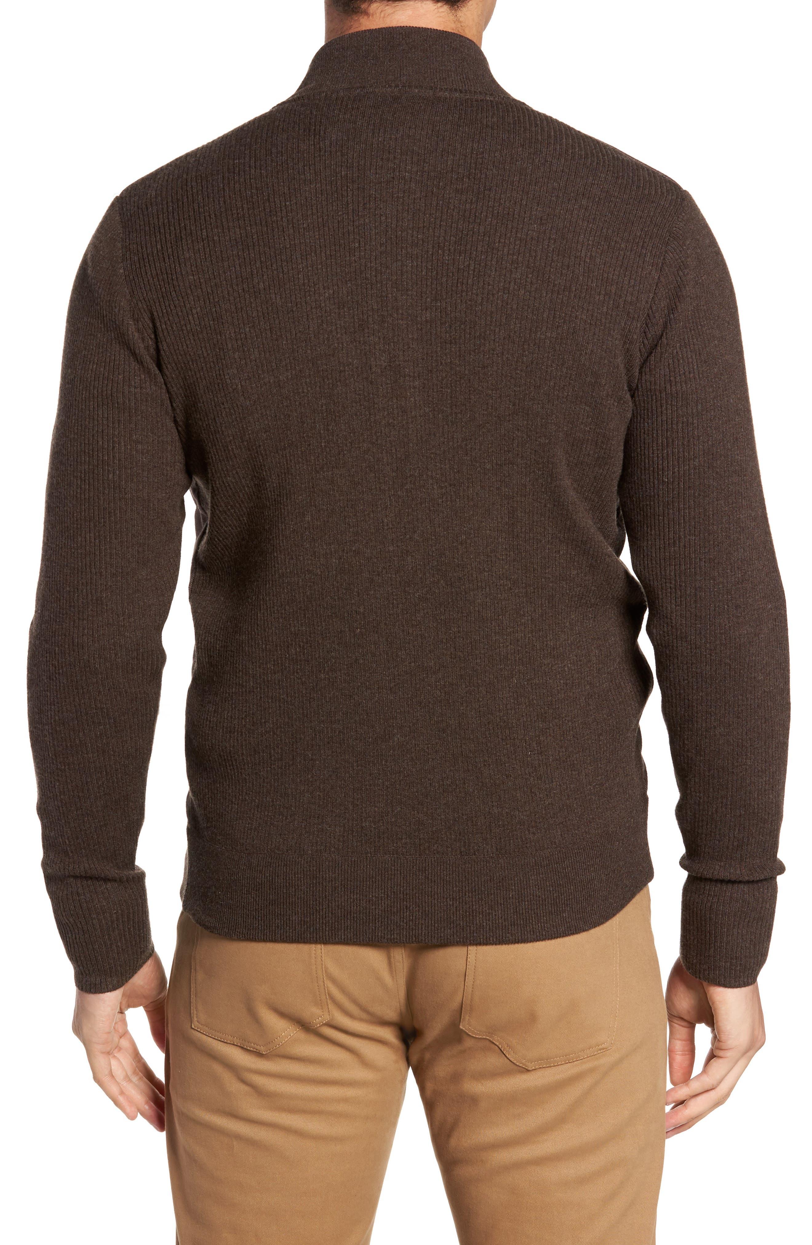 Alternate Image 2  - Peter Millar Crown Quilt Front Merino Wool Blend Cardigan