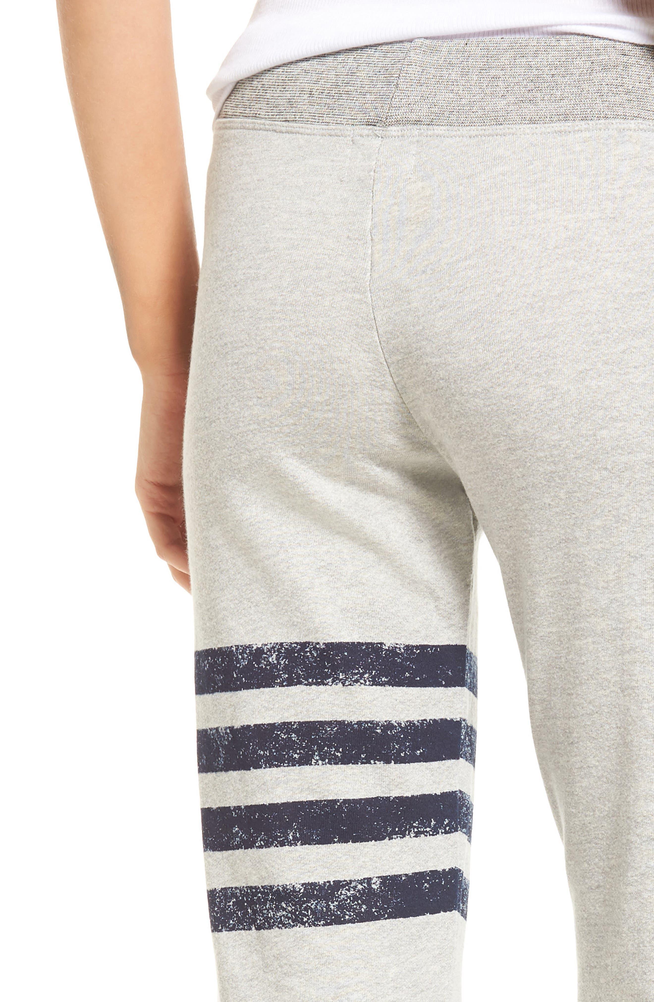 Stripe Yoga Pants,                             Alternate thumbnail 4, color,                             Soft Black