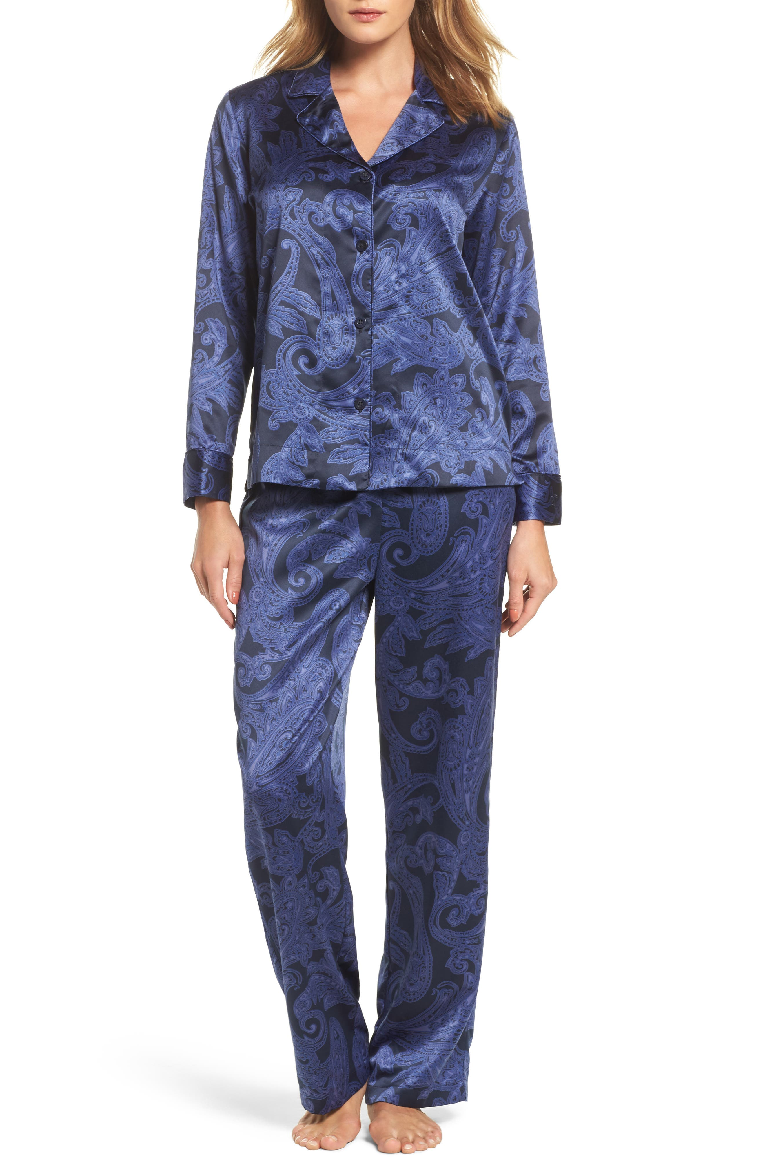 Lauren Ralph Lauren Print Satin Pajamas