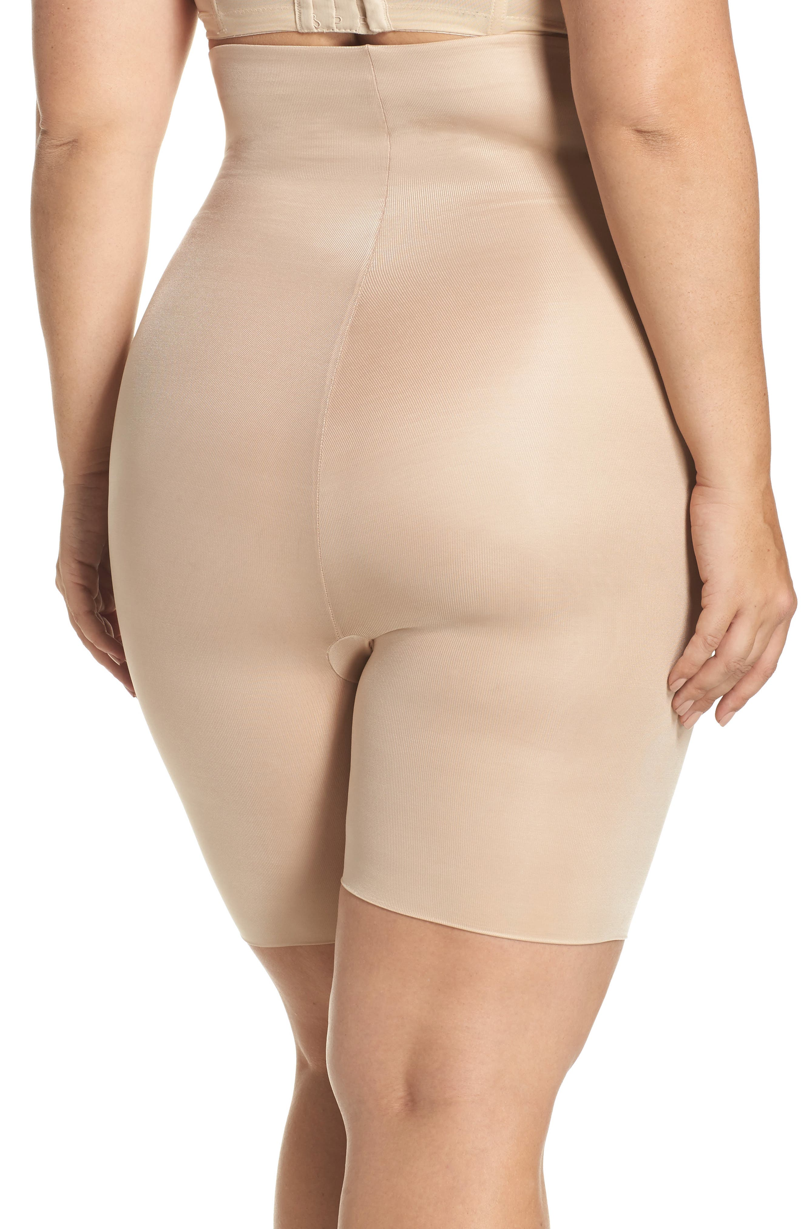 Alternate Image 2  - SPANX® Power Conceal-Her High Waist Shaping Shorts (Plus Size)