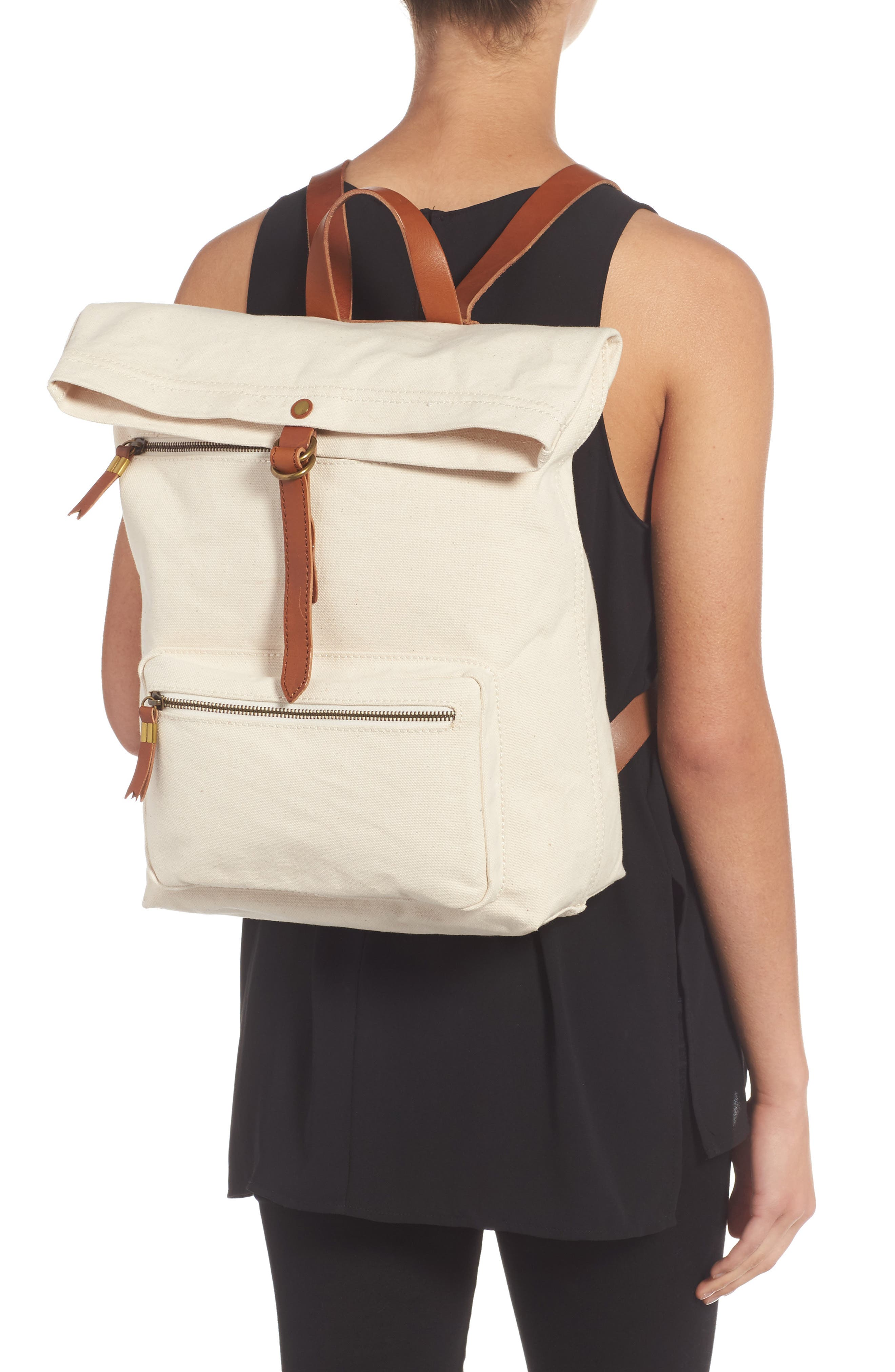 The Canvas Foldover Backpack,                             Alternate thumbnail 2, color,                             Vintage Canvas