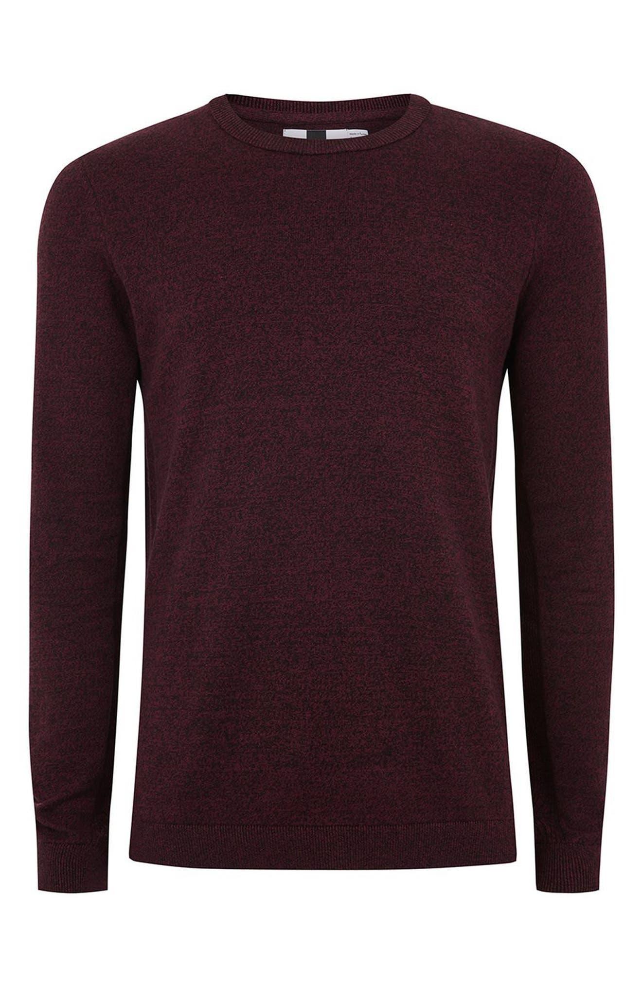Alternate Image 4  - Topman Side Ribbed Slim Fit Sweater