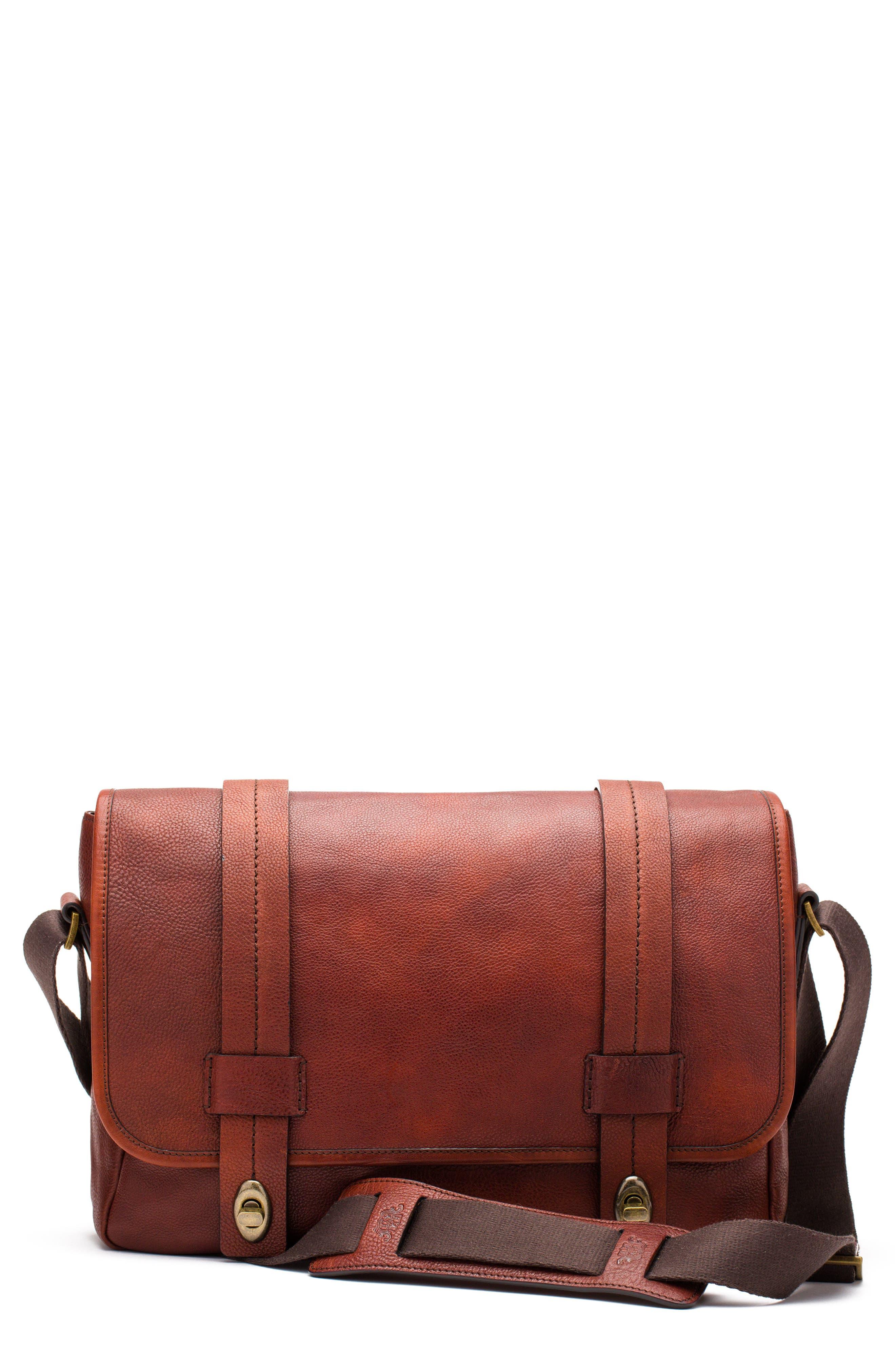 Alternate Image 6  - Bosca Leather Messenger Bag