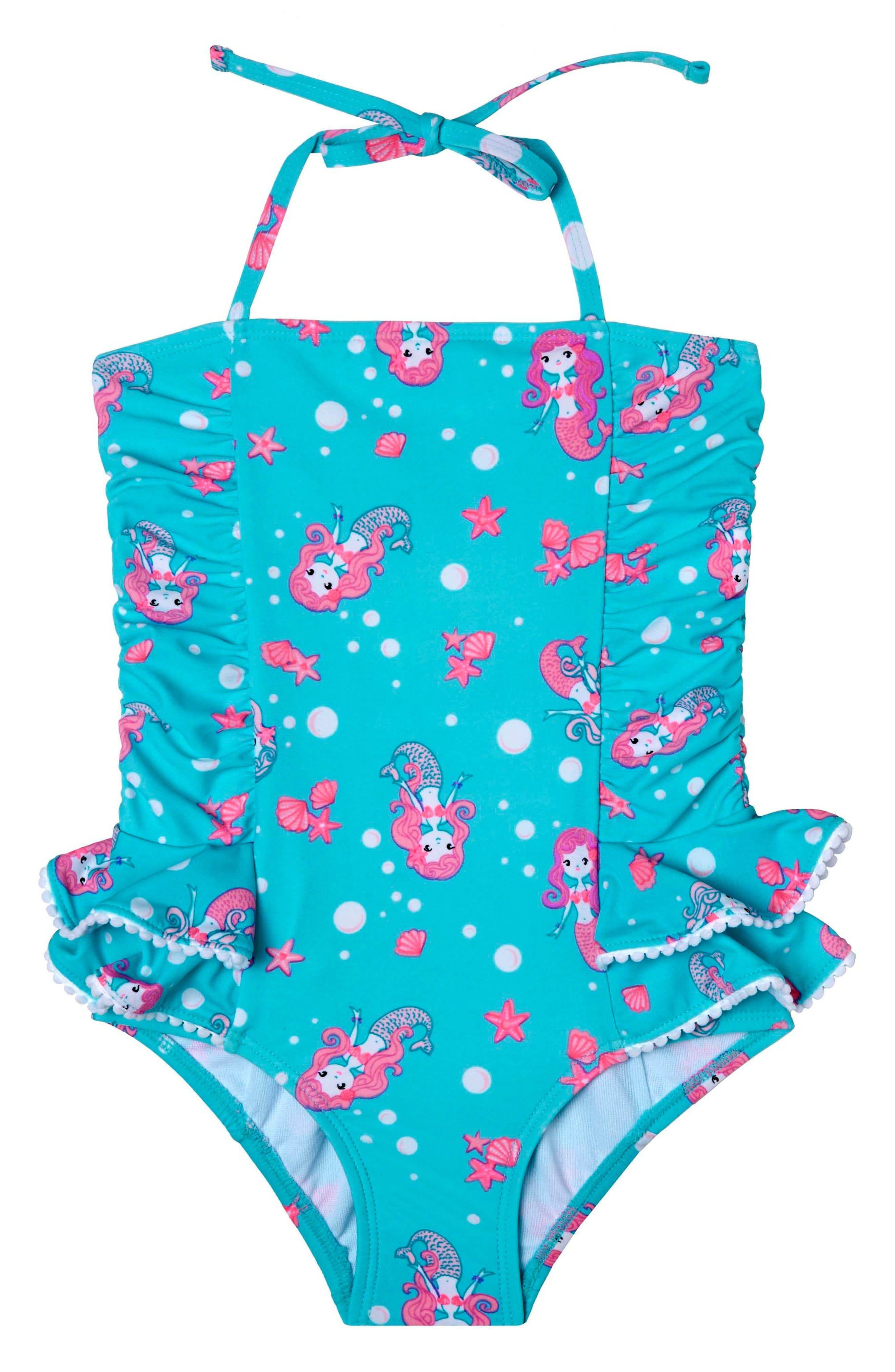 Alternate Image 1 Selected - Hula Star Mermaid Crush One-Piece Swimsuit (Toddler Girls & Little Girls)