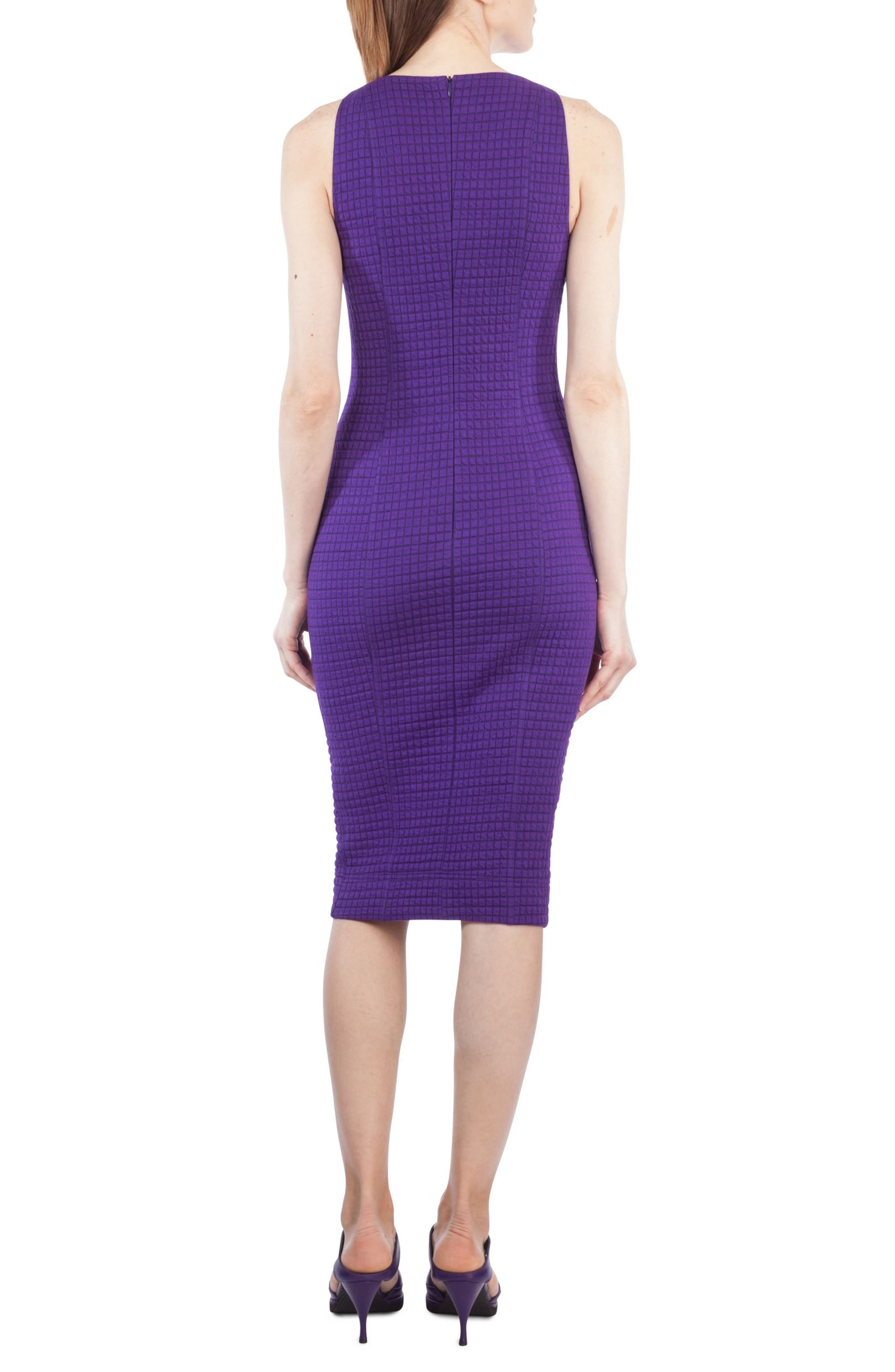 Waffle Jersey Dress,                             Alternate thumbnail 2, color,                             Purple Orchid