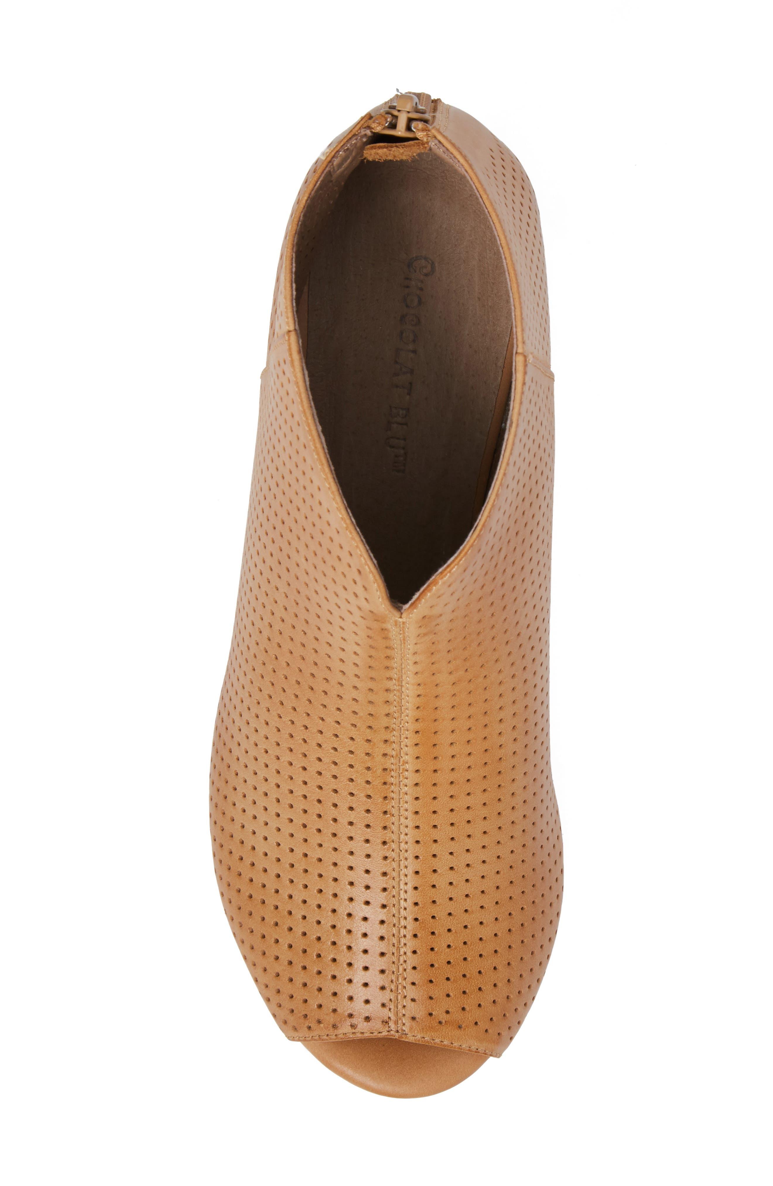 Alternate Image 5  - Chocolat Blu Walee Peep Toe Platform Bootie (Women)