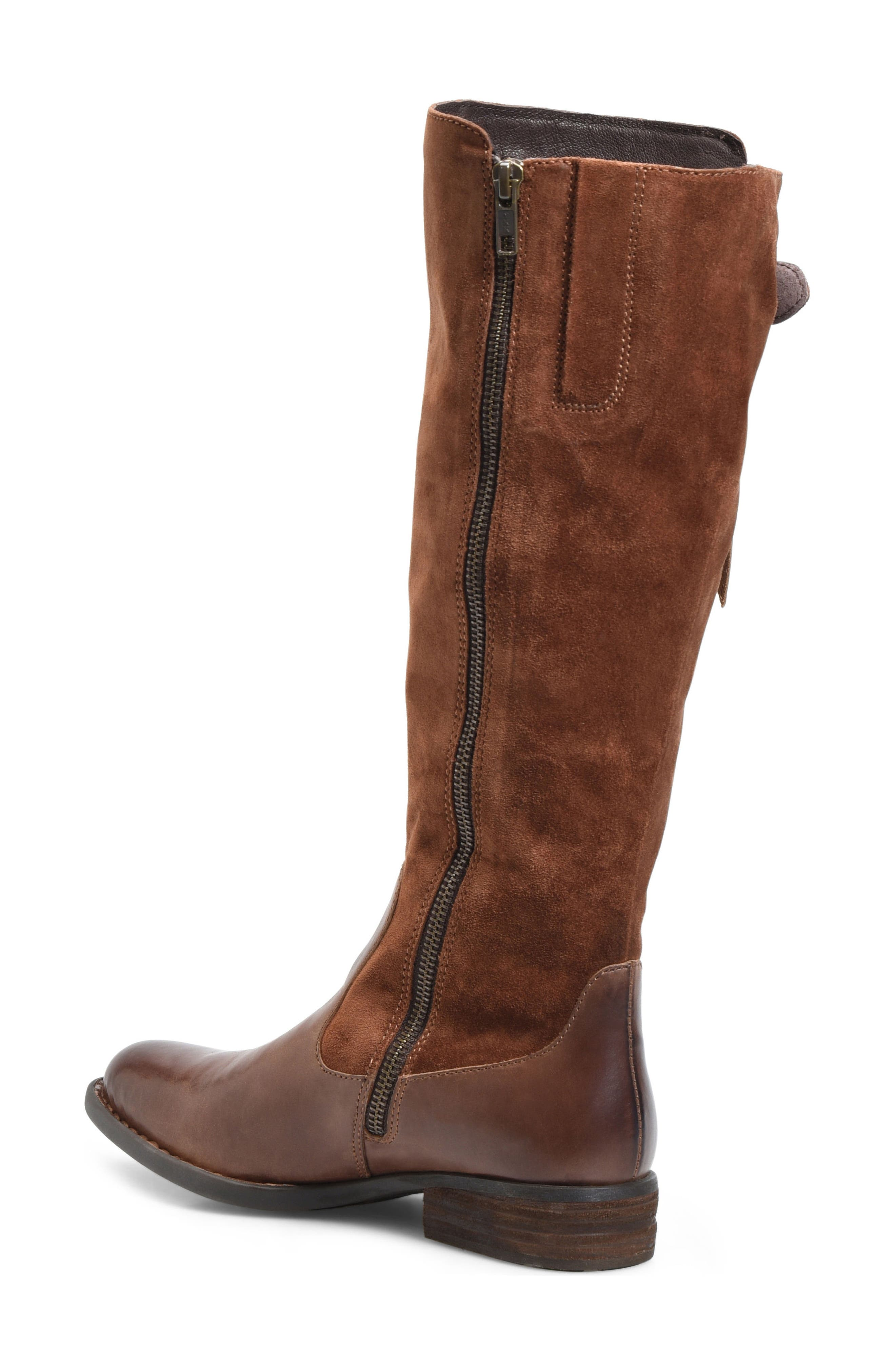 Cook Knee High Boot,                             Alternate thumbnail 2, color,                             Brown/ Rust Combo