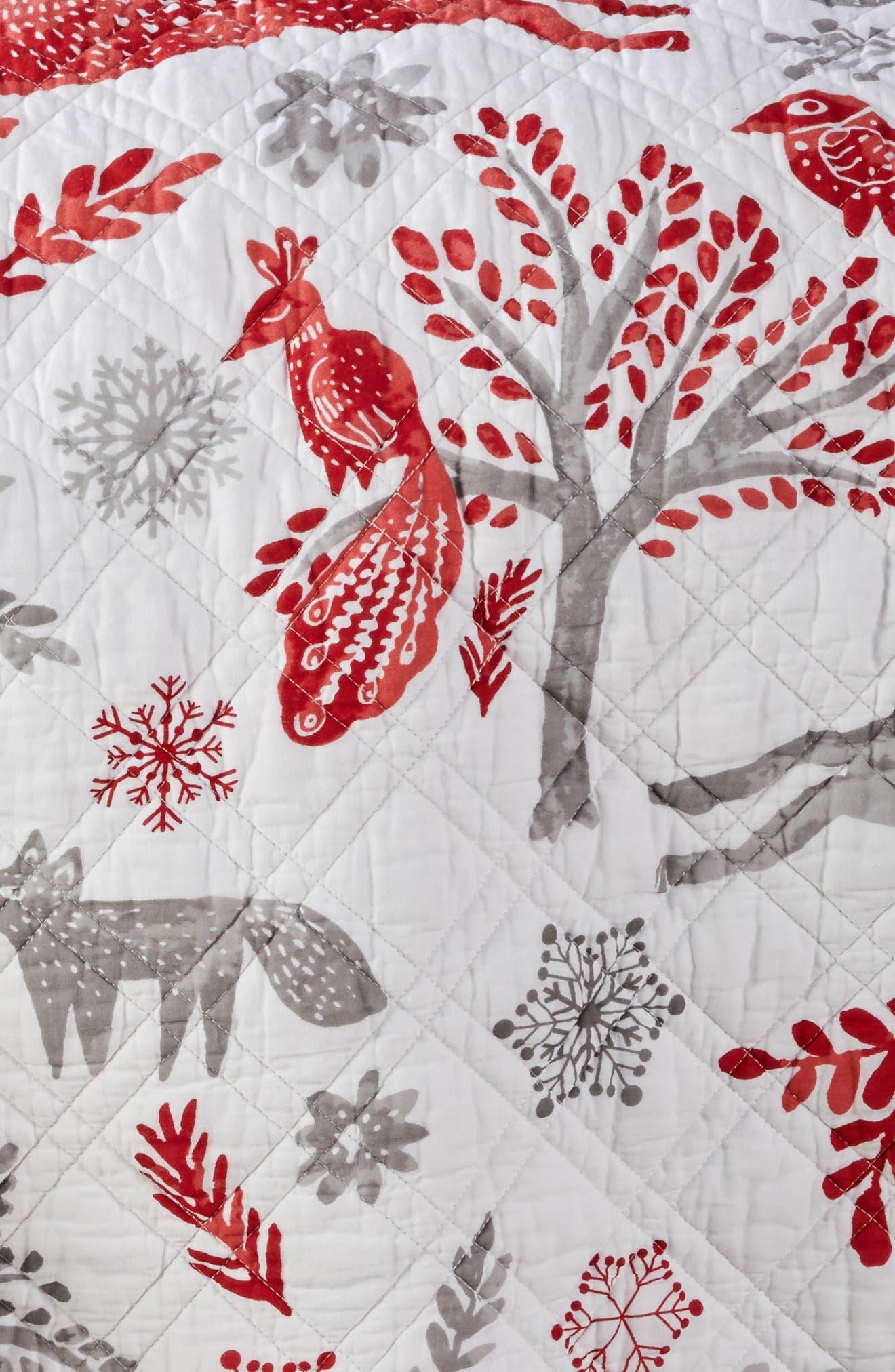 Winterland Reversible Quilt,                             Alternate thumbnail 3, color,                             Grey