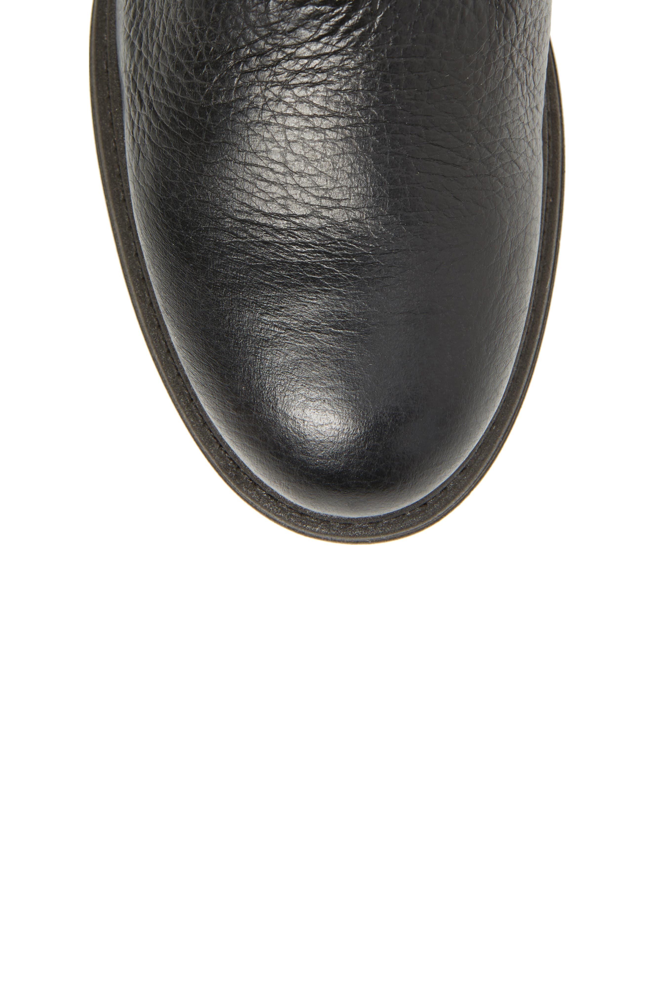 Bray Asymmetrical Zip Boot,                             Alternate thumbnail 5, color,                             Black Leather