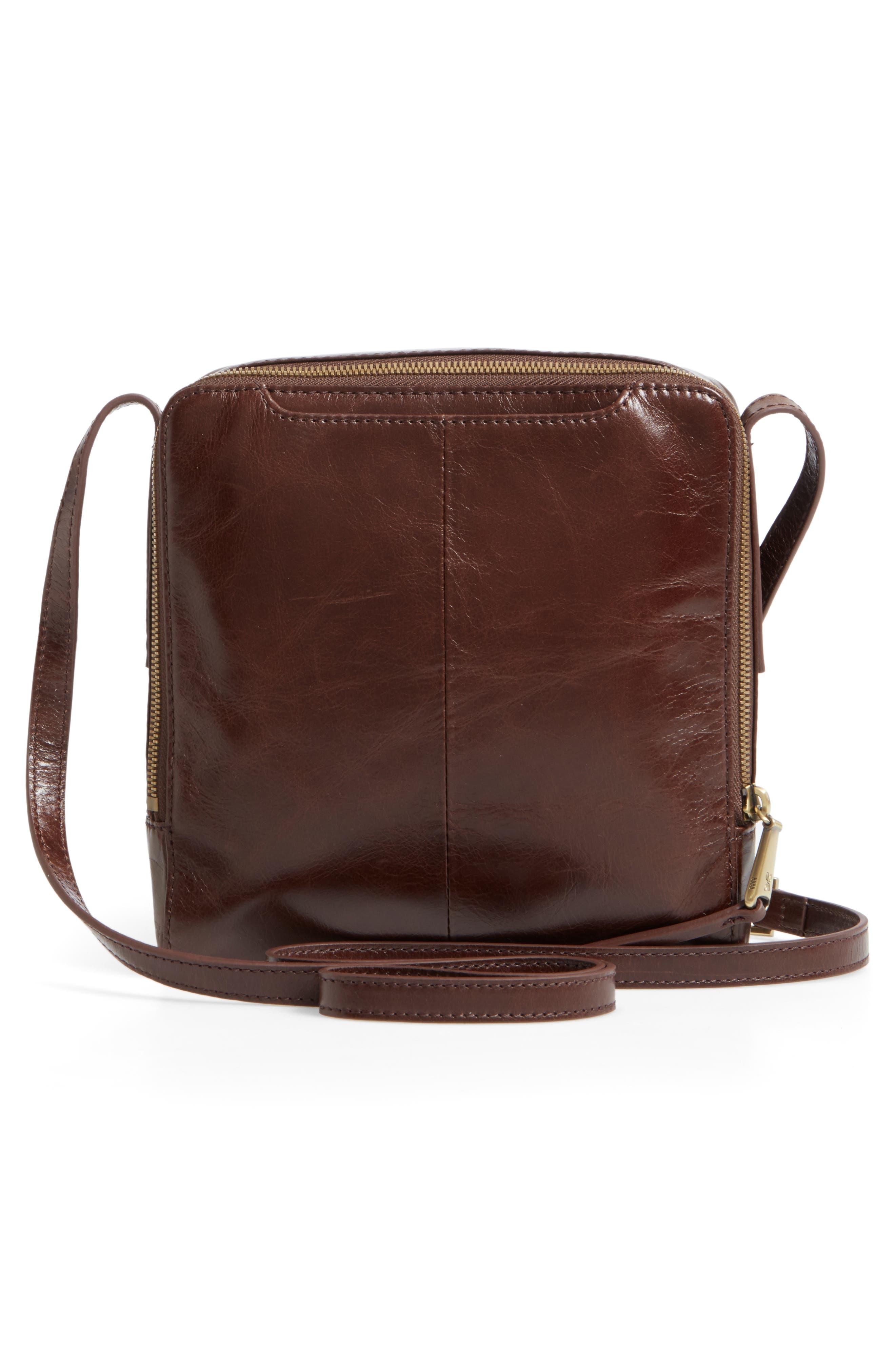 Lyric Leather Crossbody Bag,                             Alternate thumbnail 3, color,                             Espresso