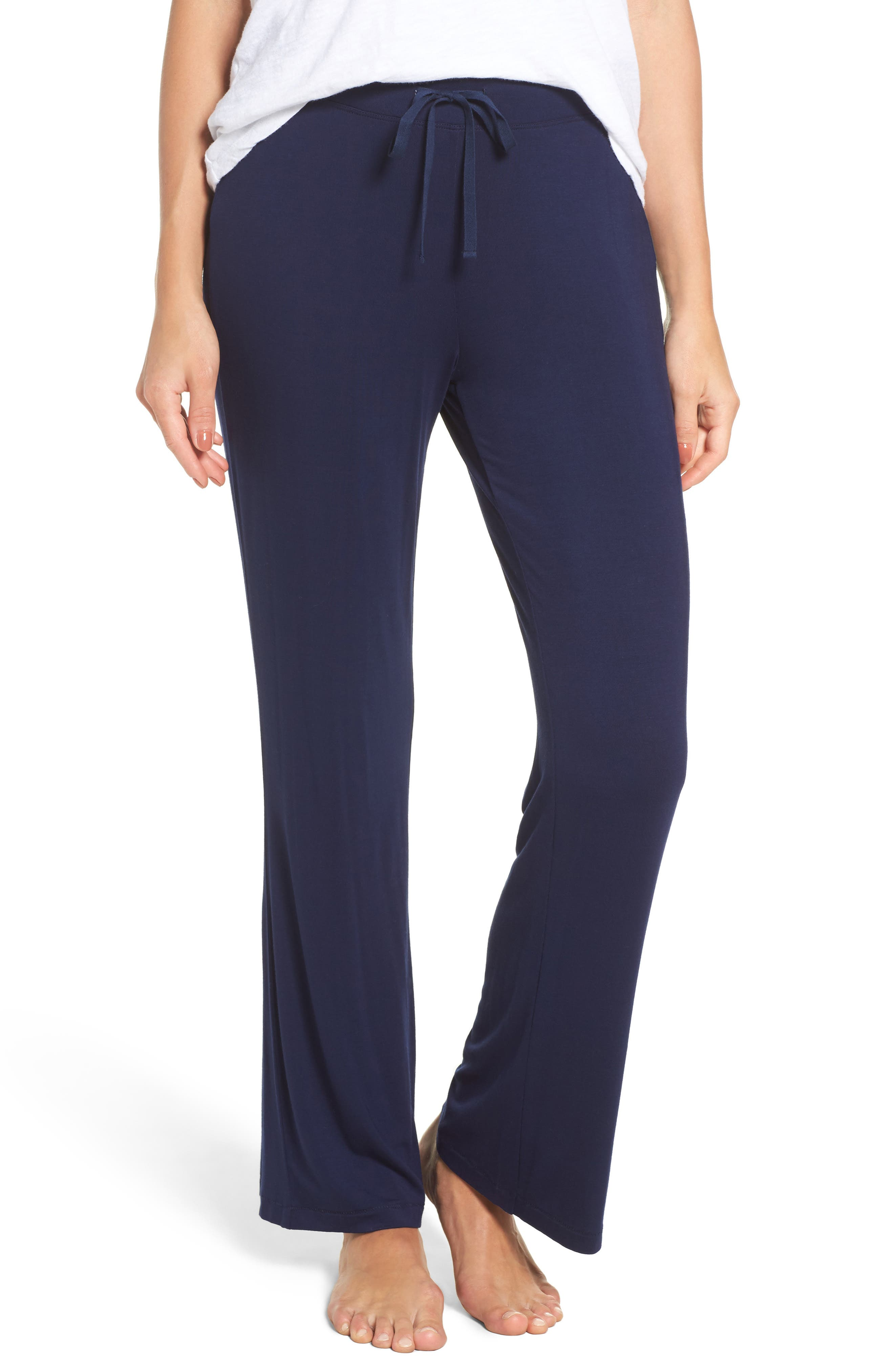 Polly Lounge Pants,                         Main,                         color, Navy
