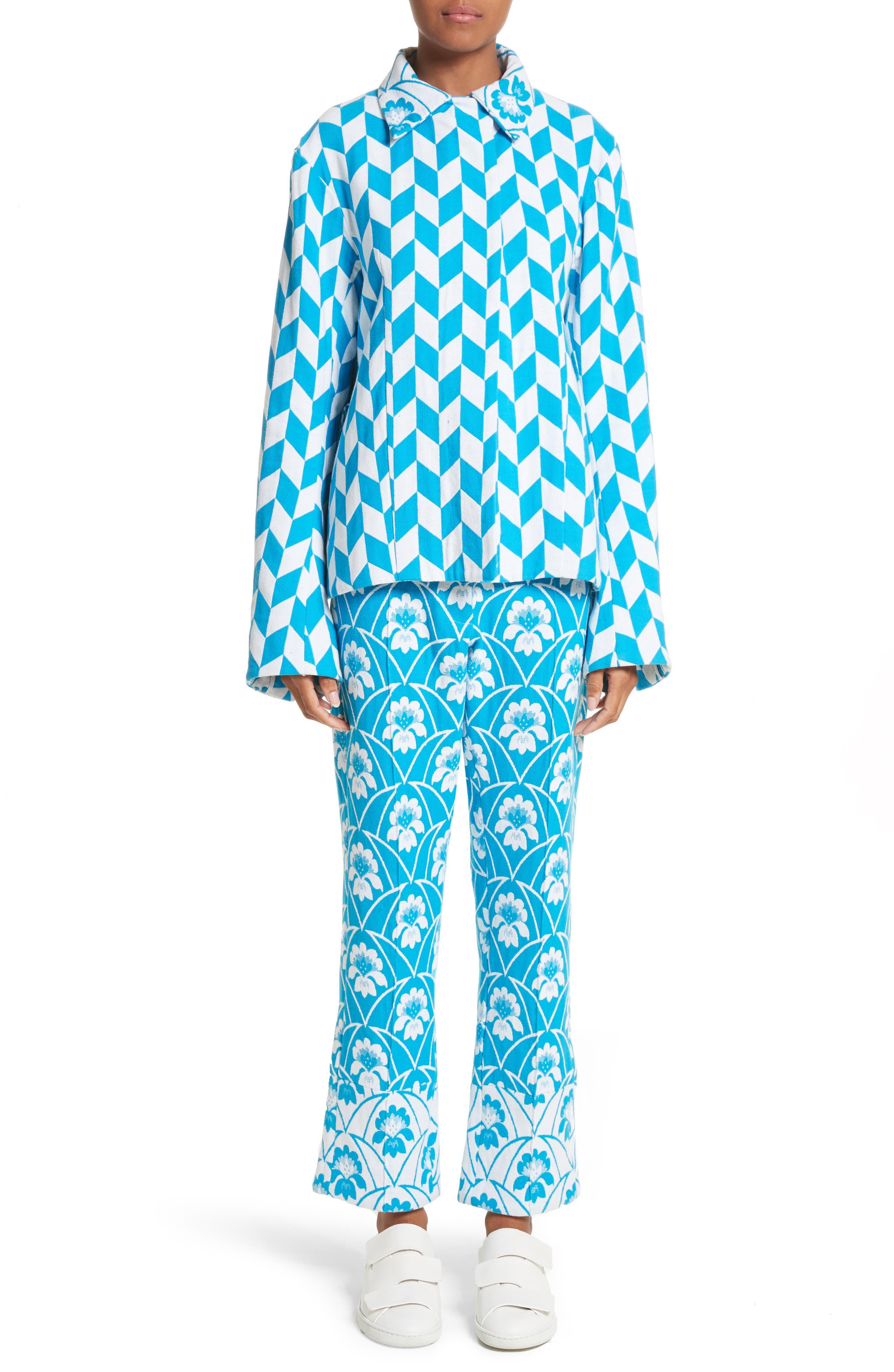 Alternate Image 7  - Richard Malone Floral Slim Leg Trousers