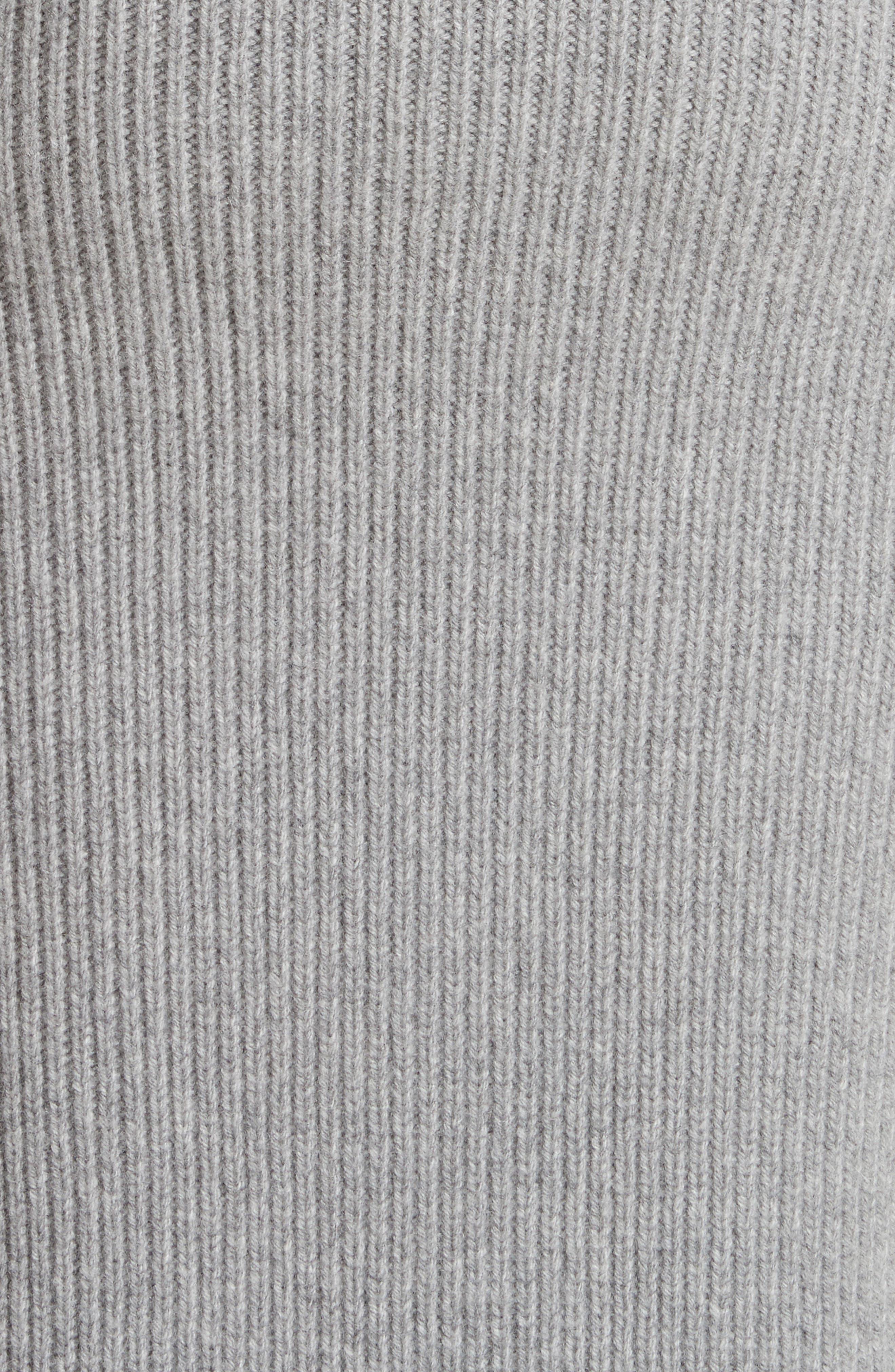 Bishop Sleeve Cardigan,                             Alternate thumbnail 6, color,                             Grey Melange
