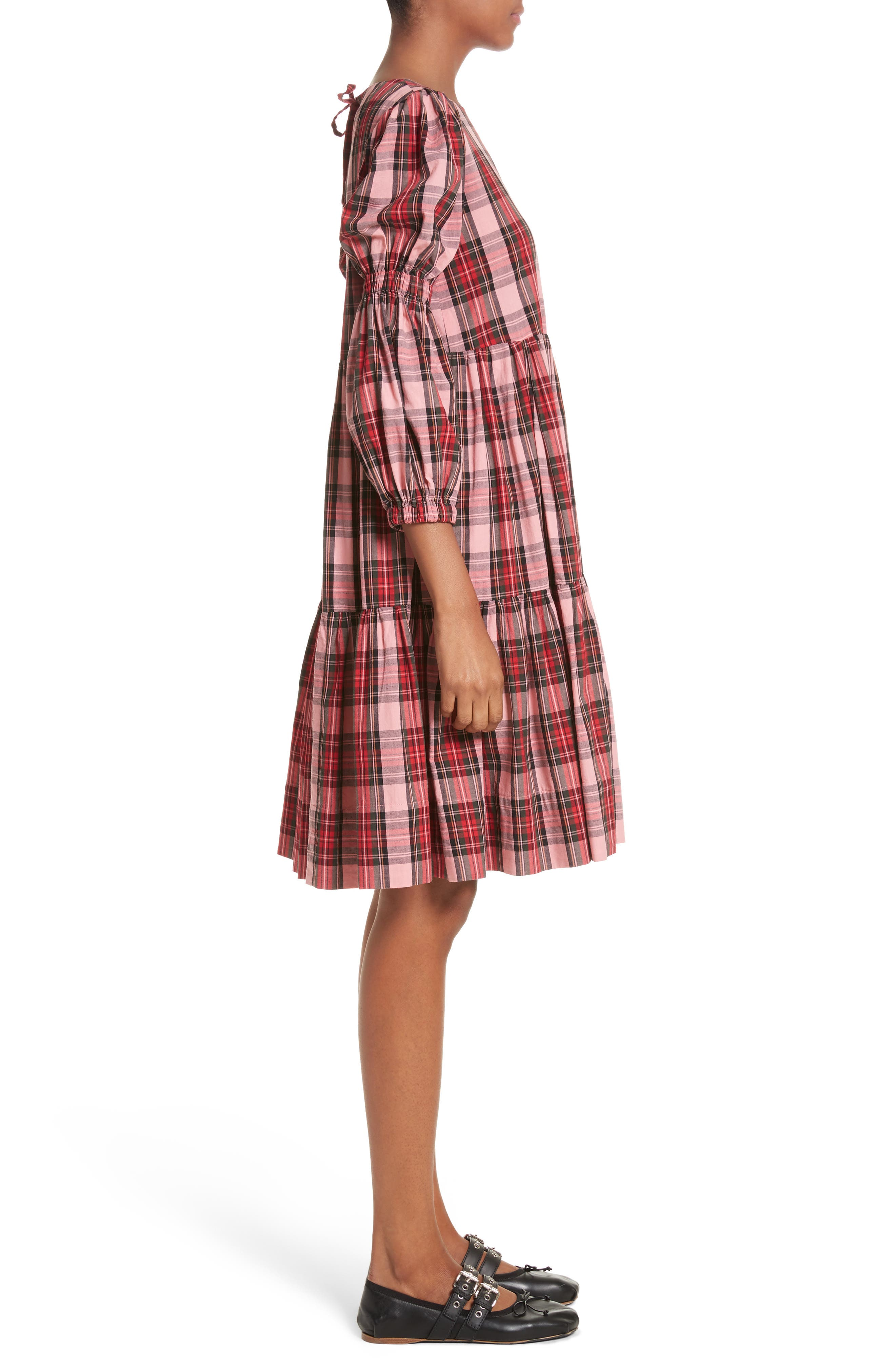 Alternate Image 3  - Molly Goddard Martha Tartan Dress