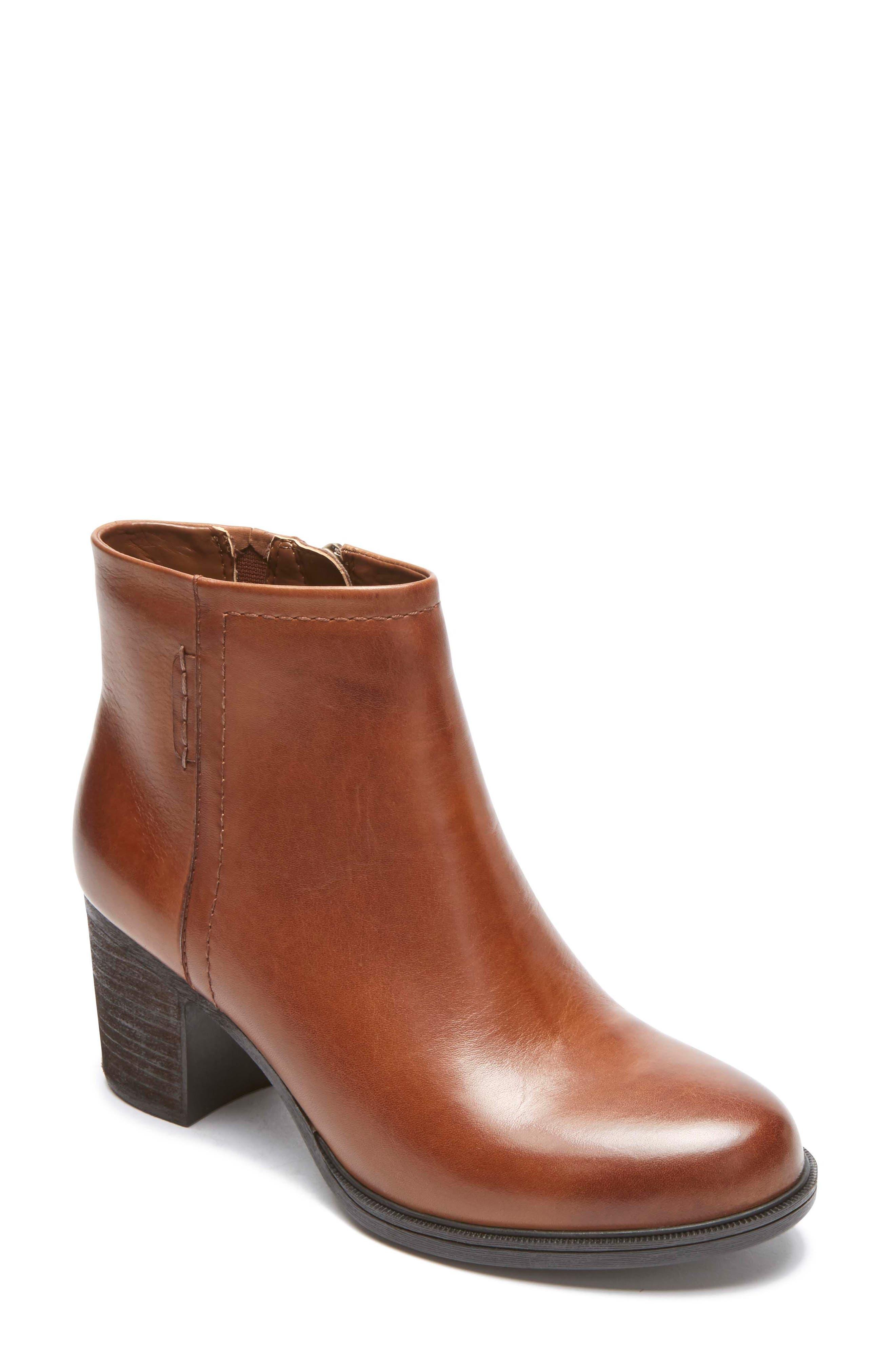 Natashya Bootie,                         Main,                         color, Almond Leather
