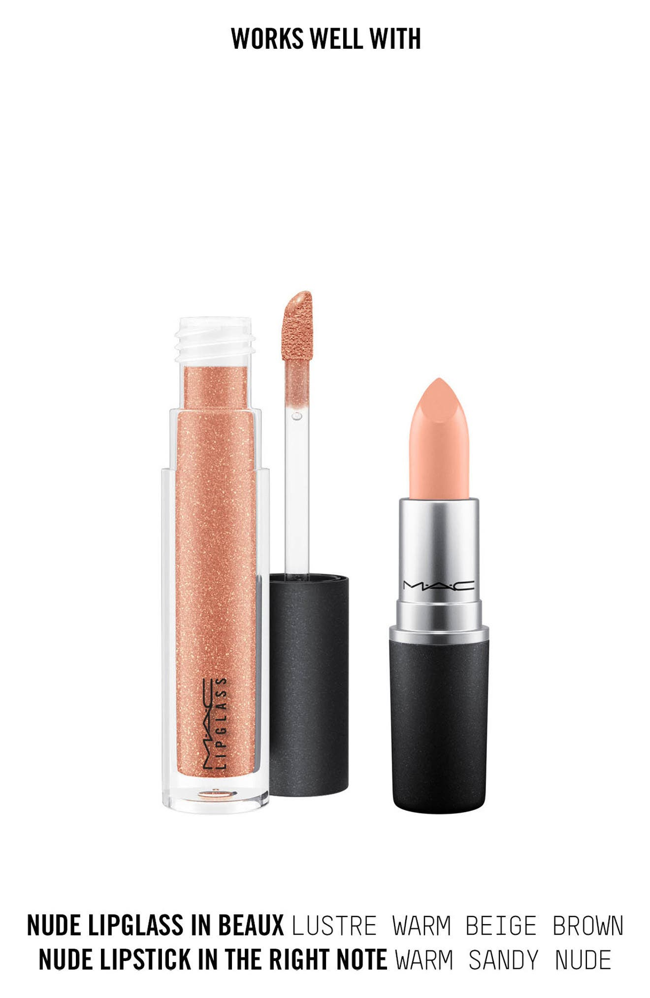 MAC Nudes Lipstick,                             Alternate thumbnail 4, color,                             The Right Note