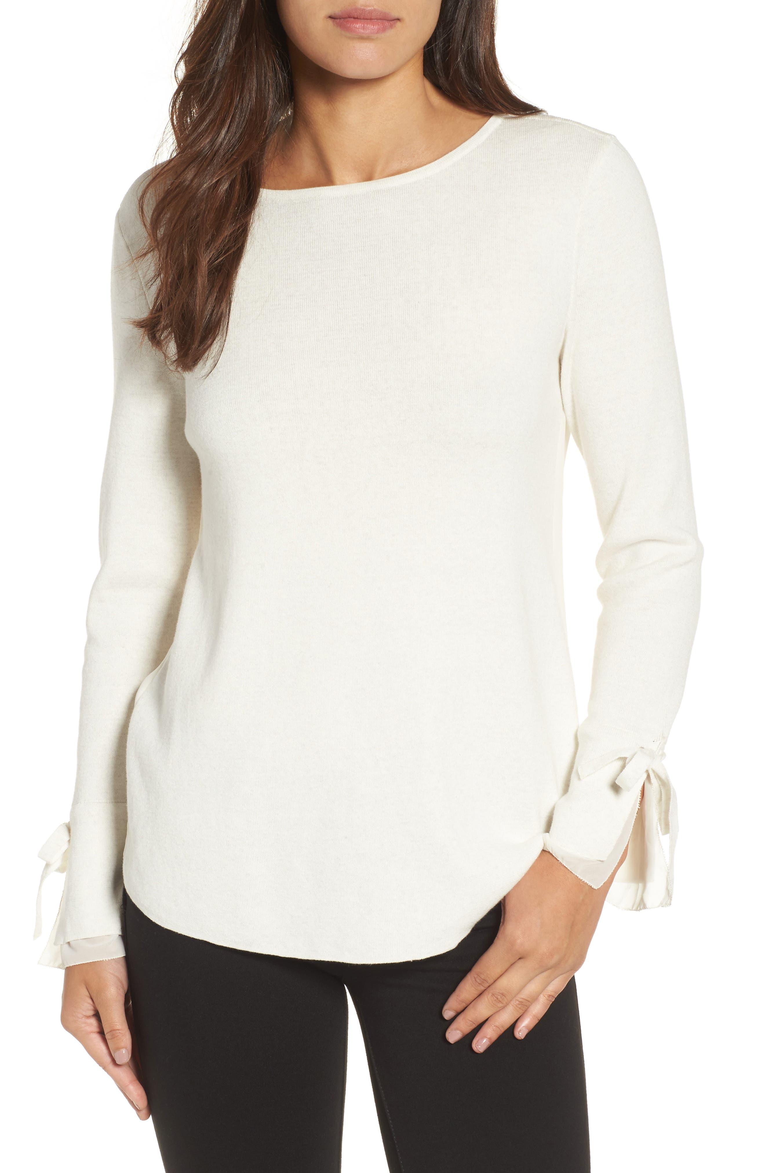 Lace Essence Top,                         Main,                         color, Milk White