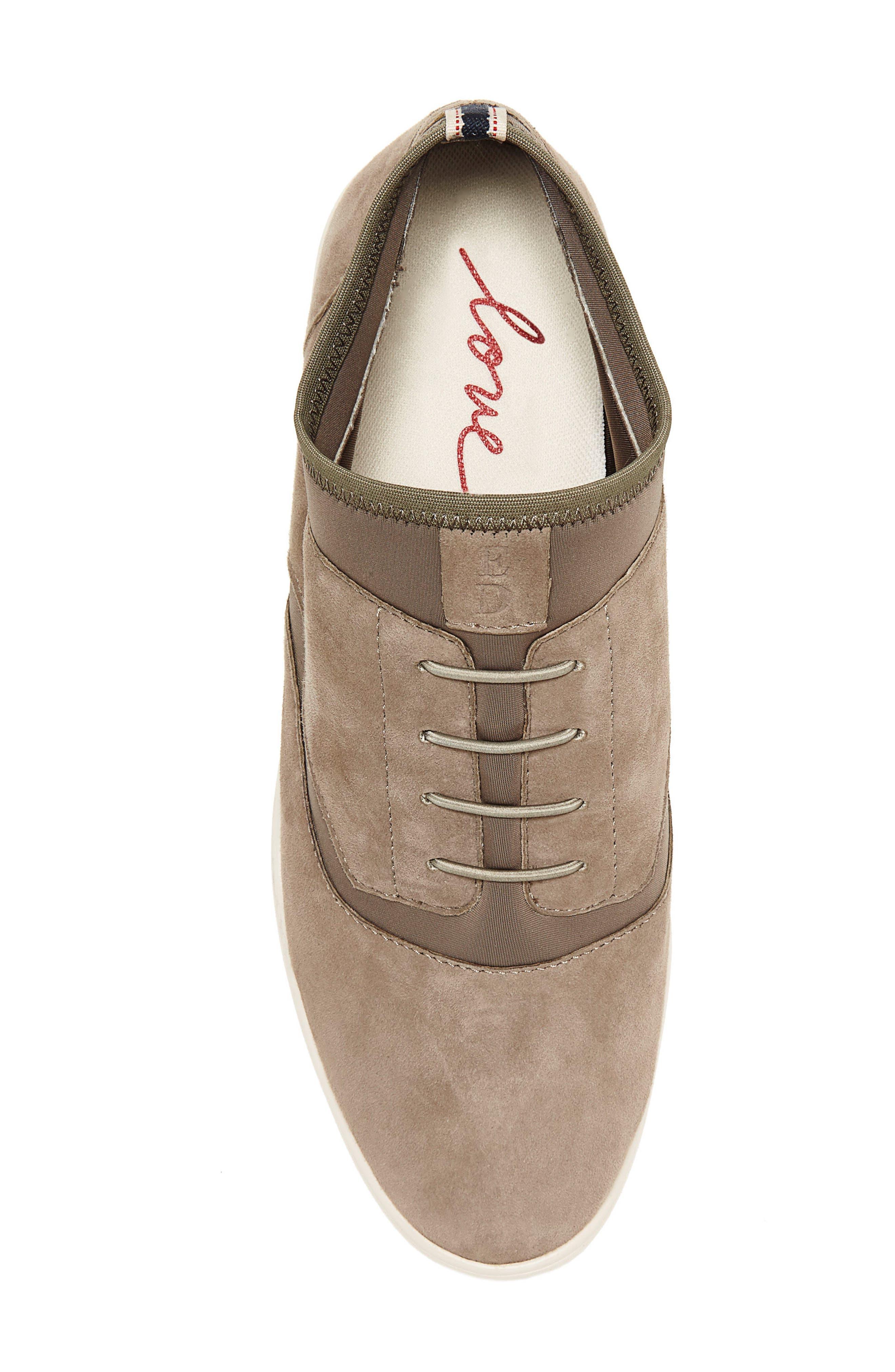 Atala Sneaker,                             Alternate thumbnail 4, color,                             Stone Suede