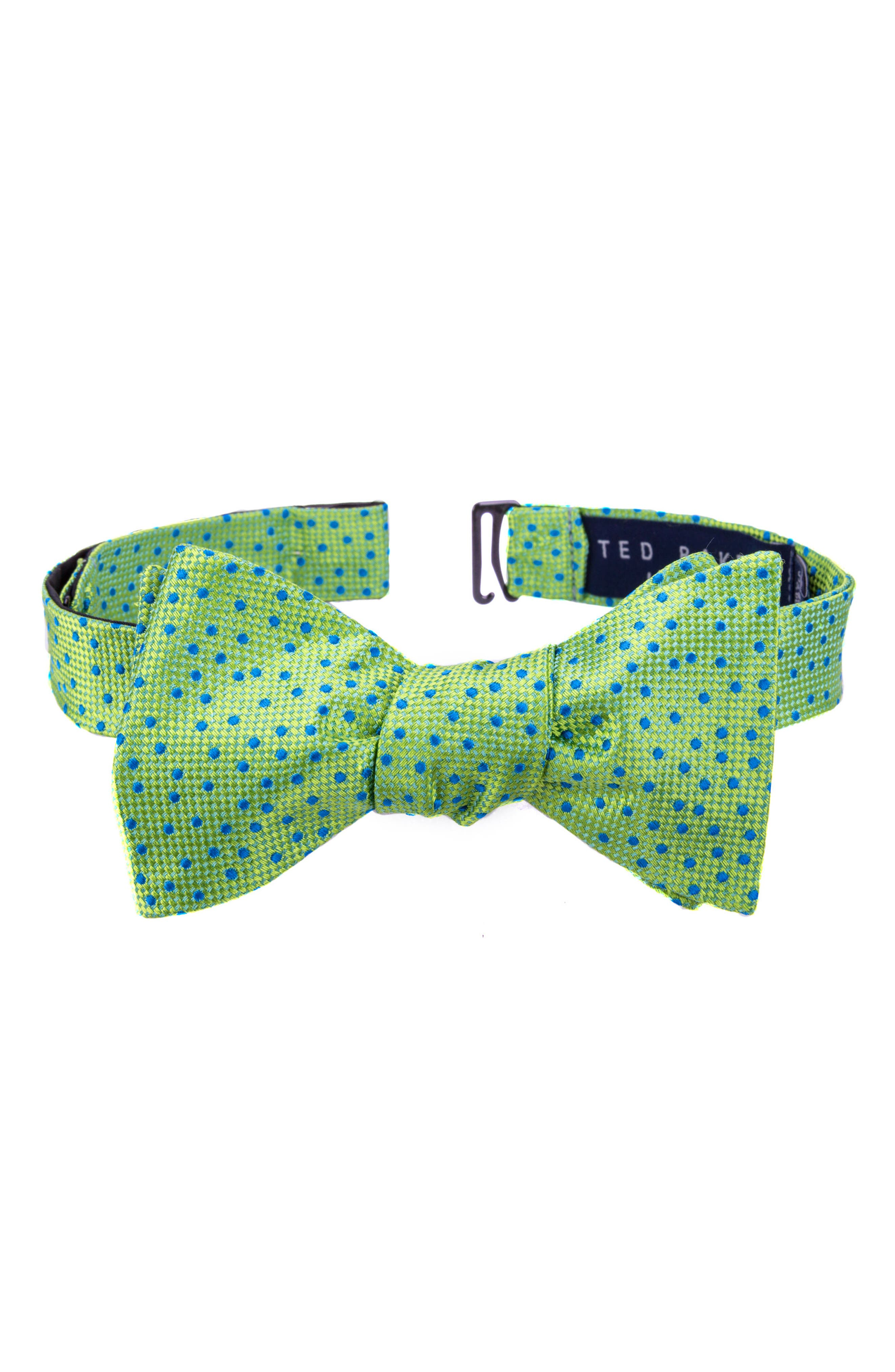 Ted Baker London Jacquard Micro Dot Silk Bow Tie